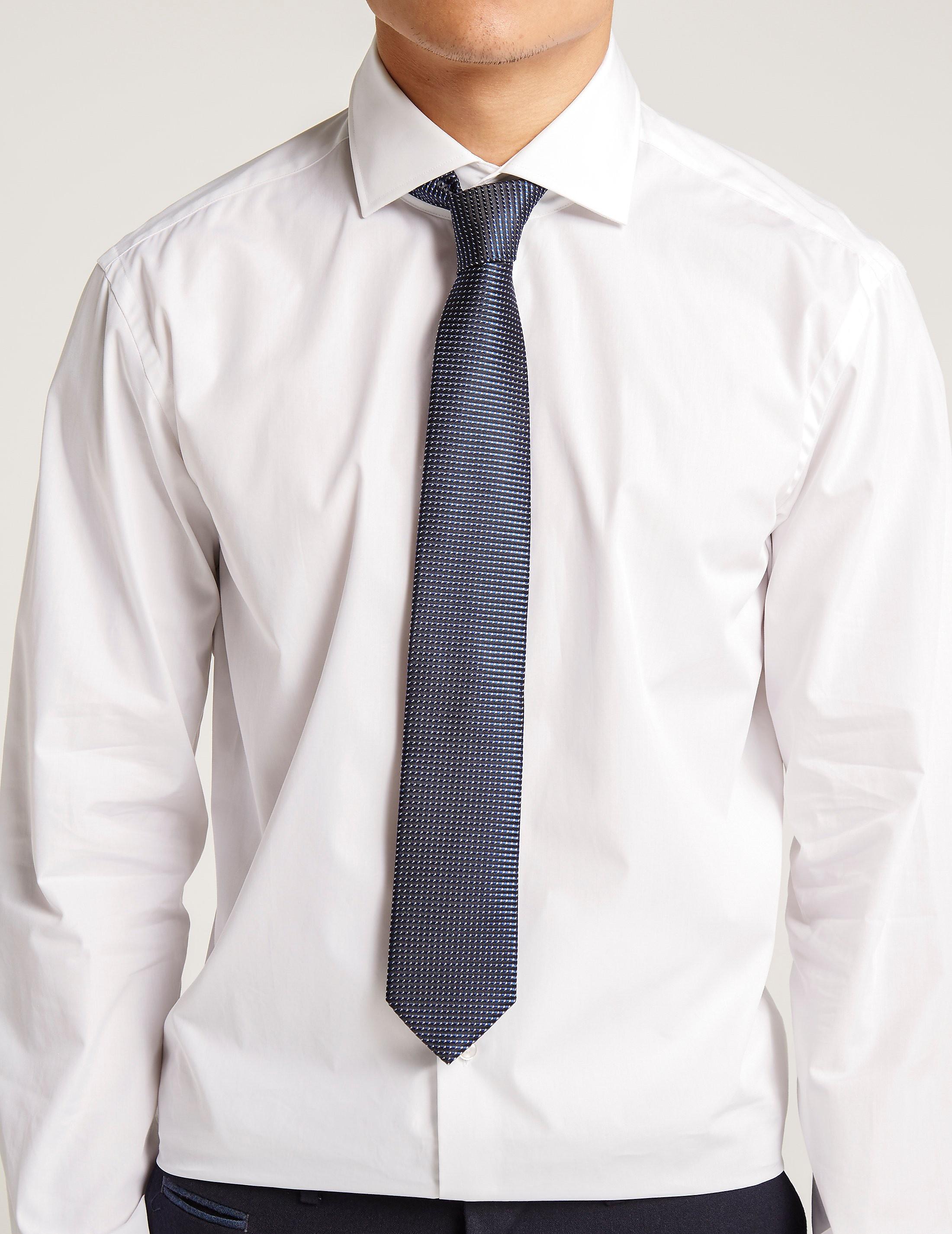 HUGO 7cm Stripe Dot Tie