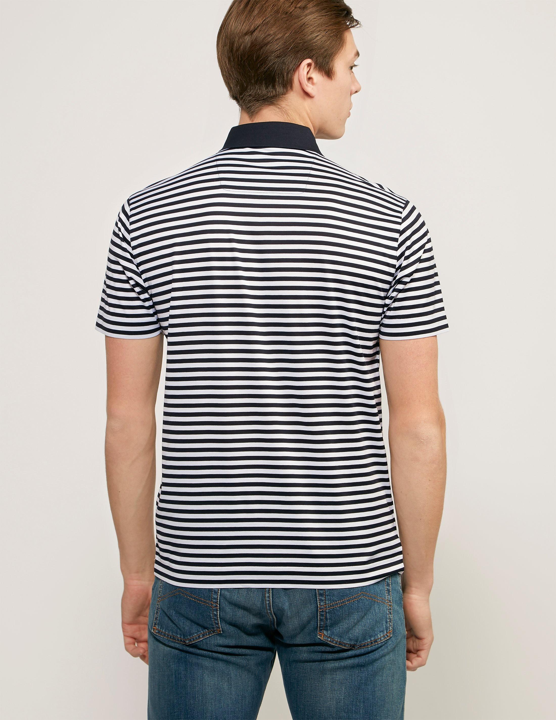 Z Zegna Striped Polo Shirt
