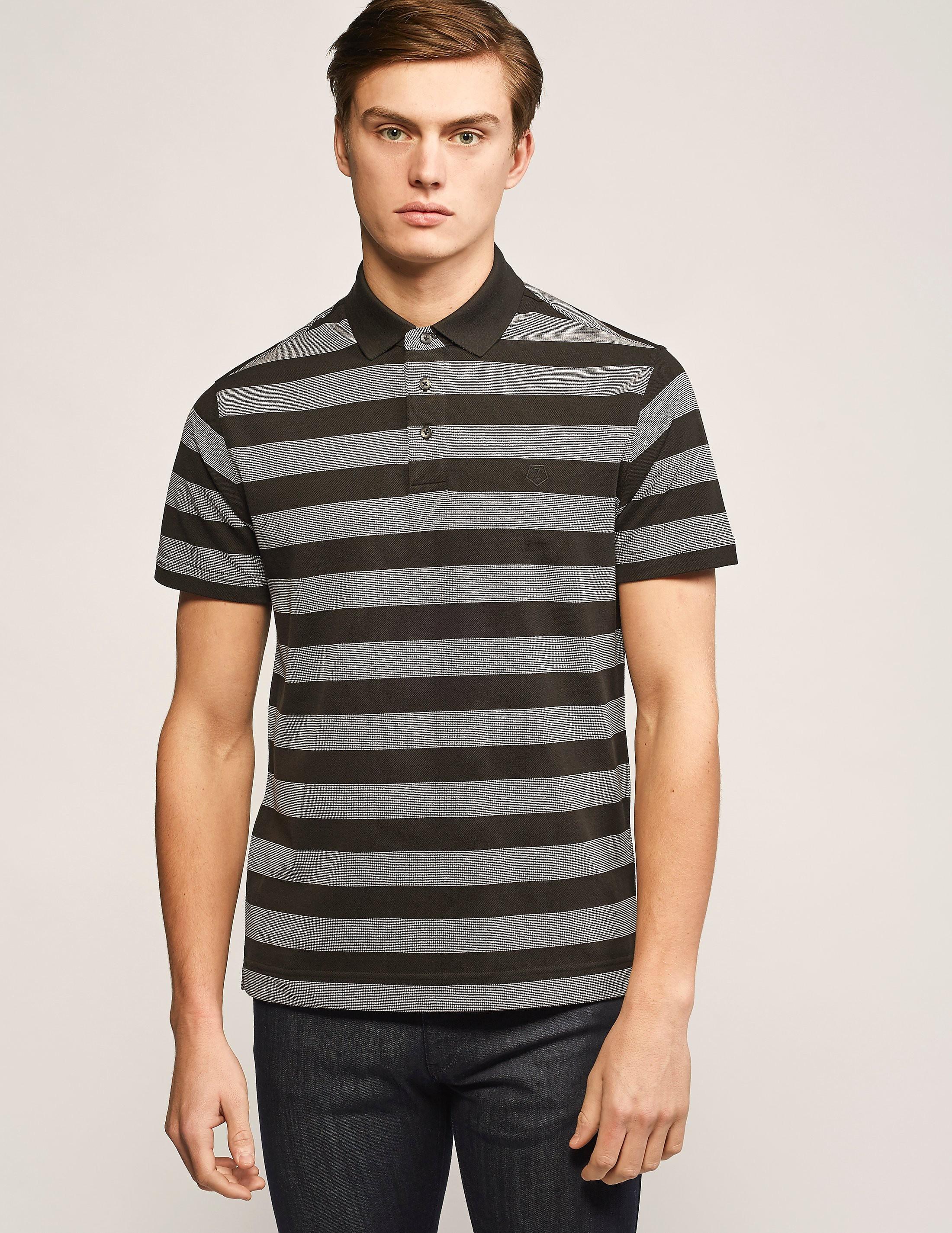 Z Zegna Stripe Polo Shirt