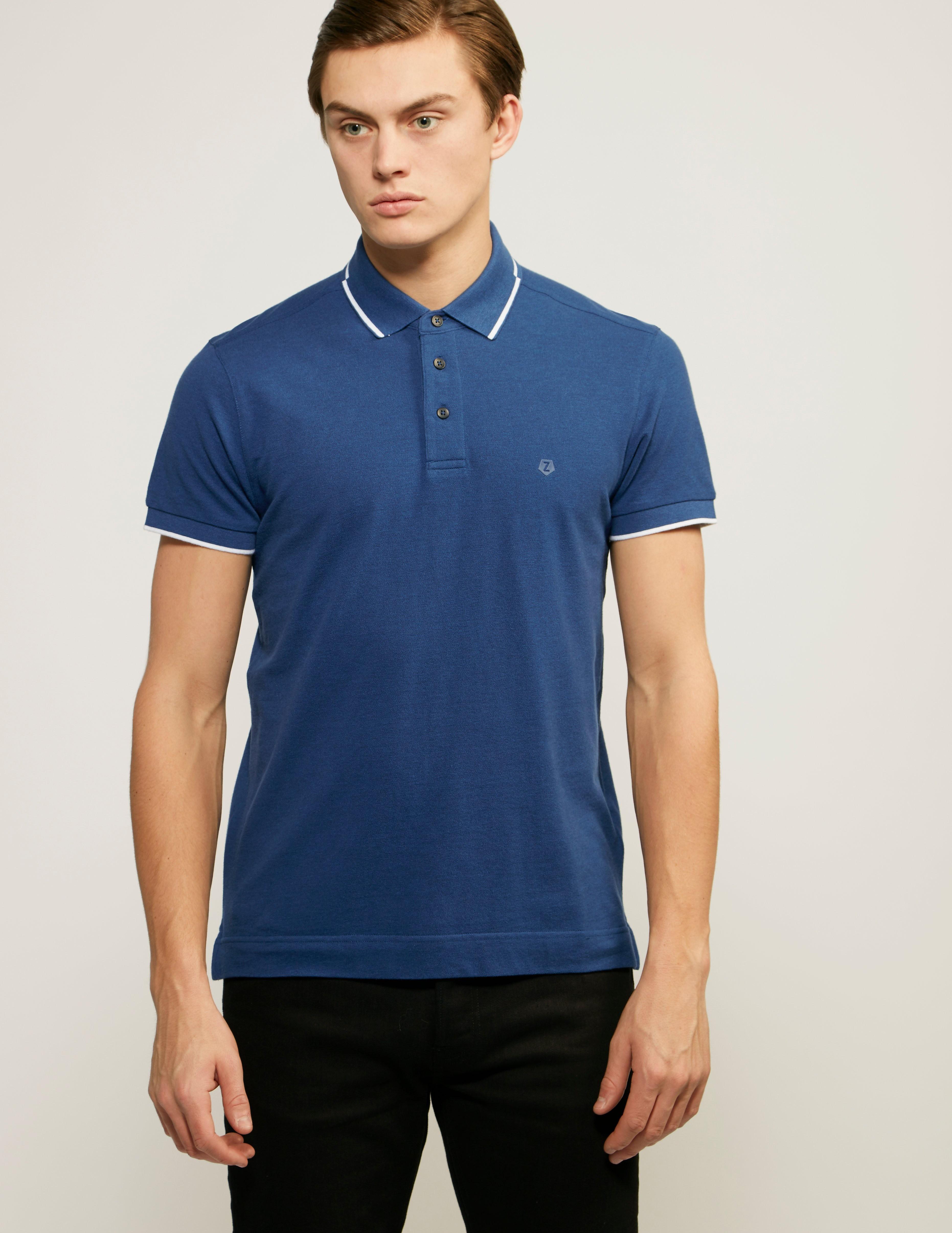 Z Zegna Basic French Polo Shirt