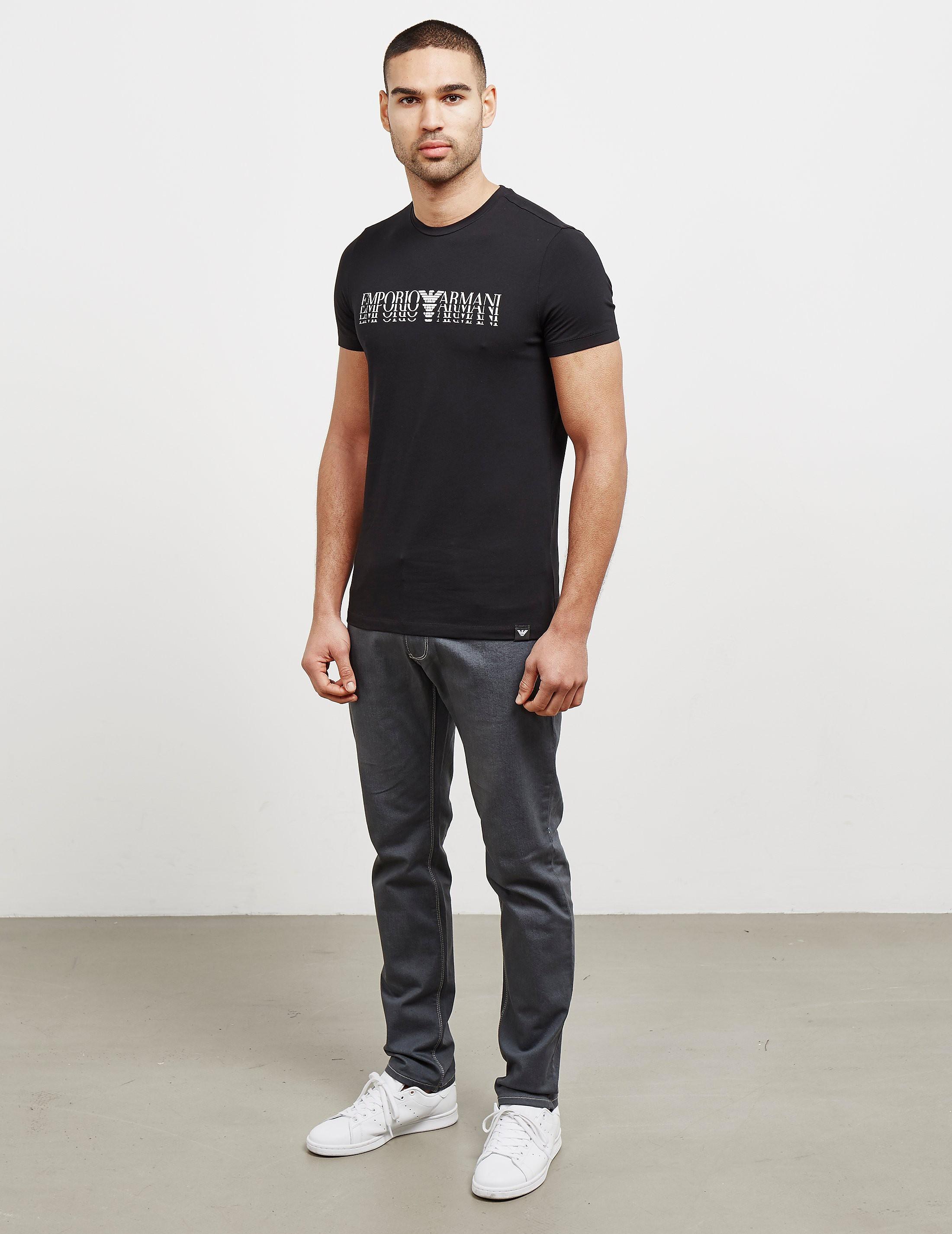 Emporio Armani Shadow Logo Short Sleeve T-Shirt