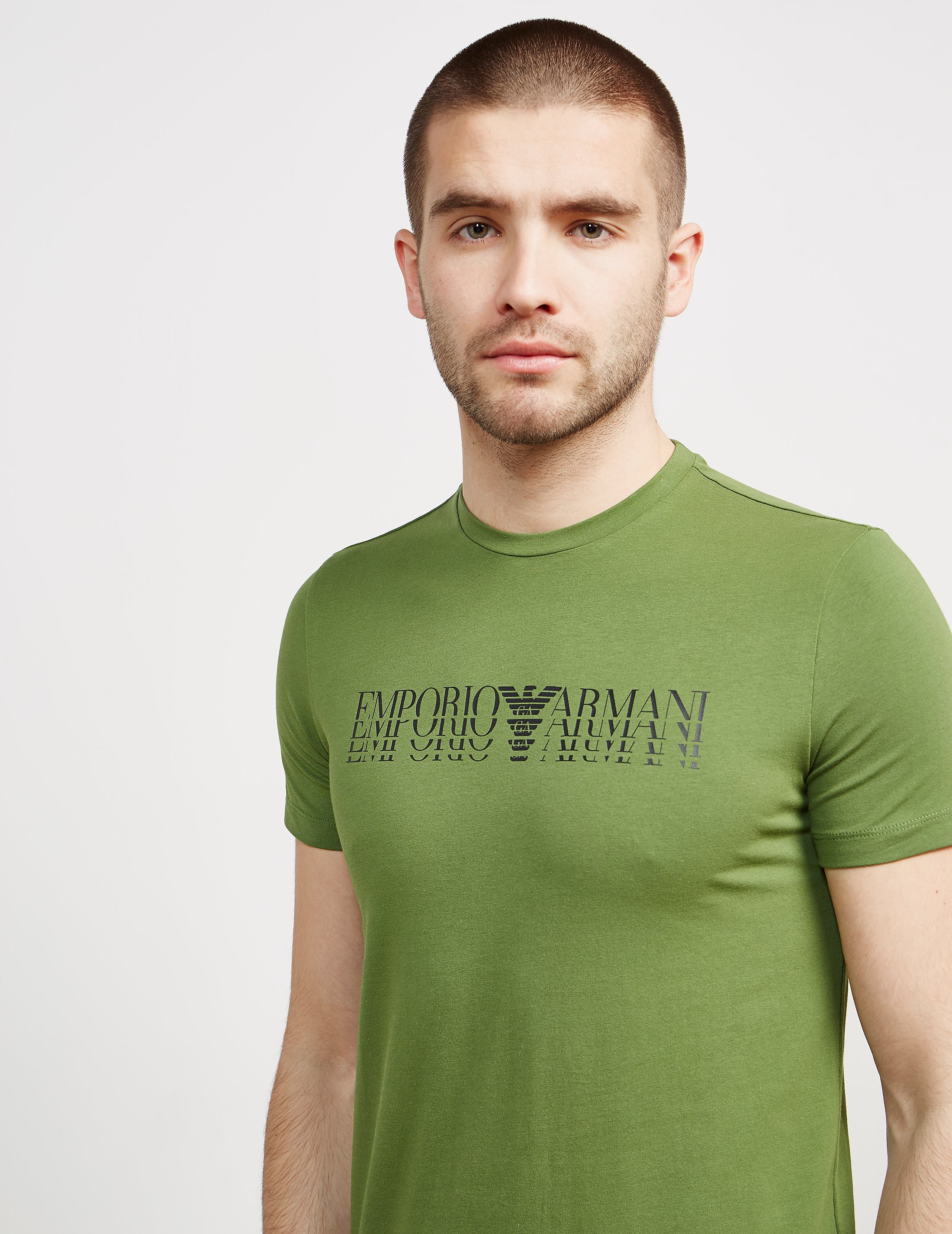 Emporio Armani Shadow Logo Short Sleeve T-Shirt