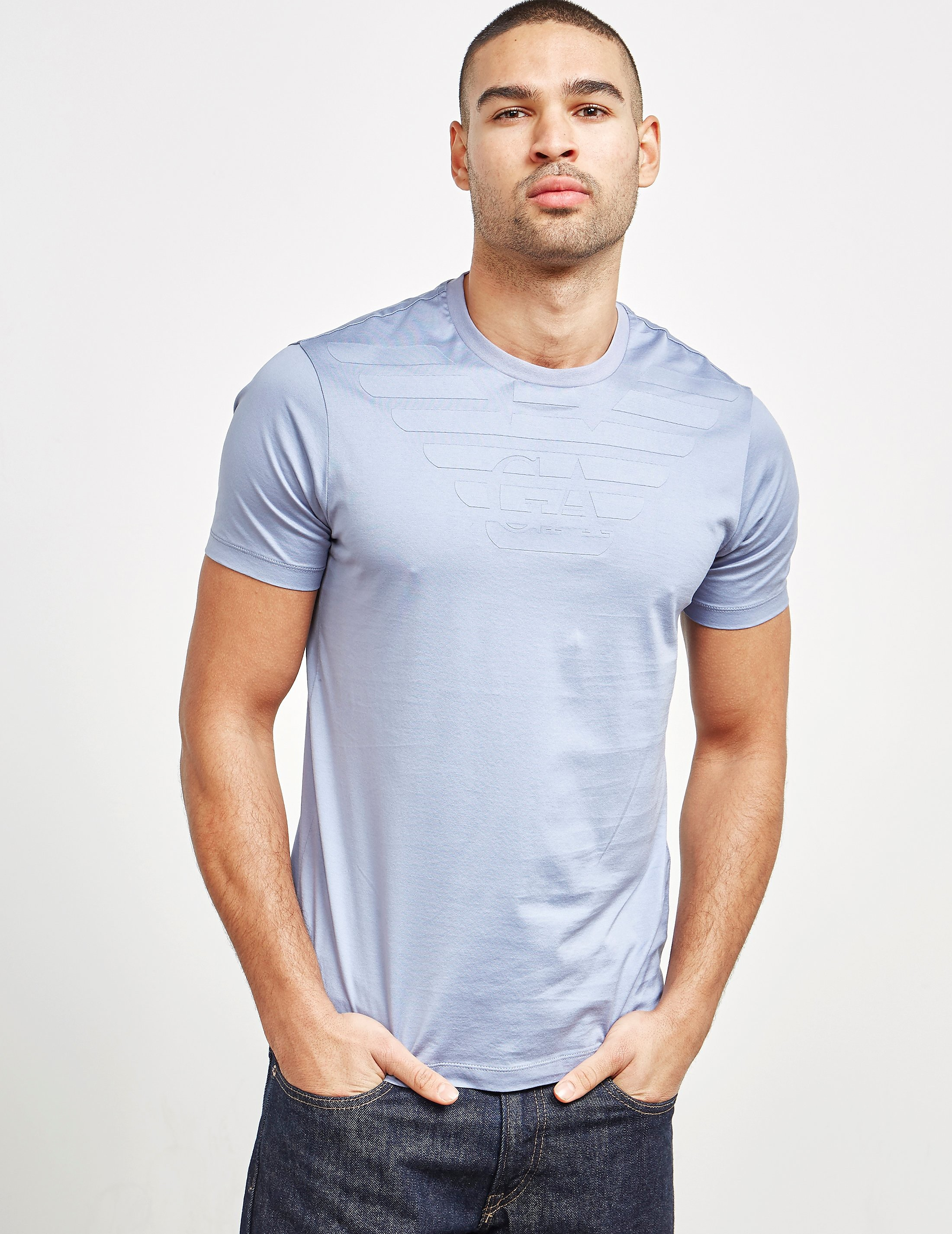 Emporio Armani Embroidered Eagle Short Sleeve T-Shirt