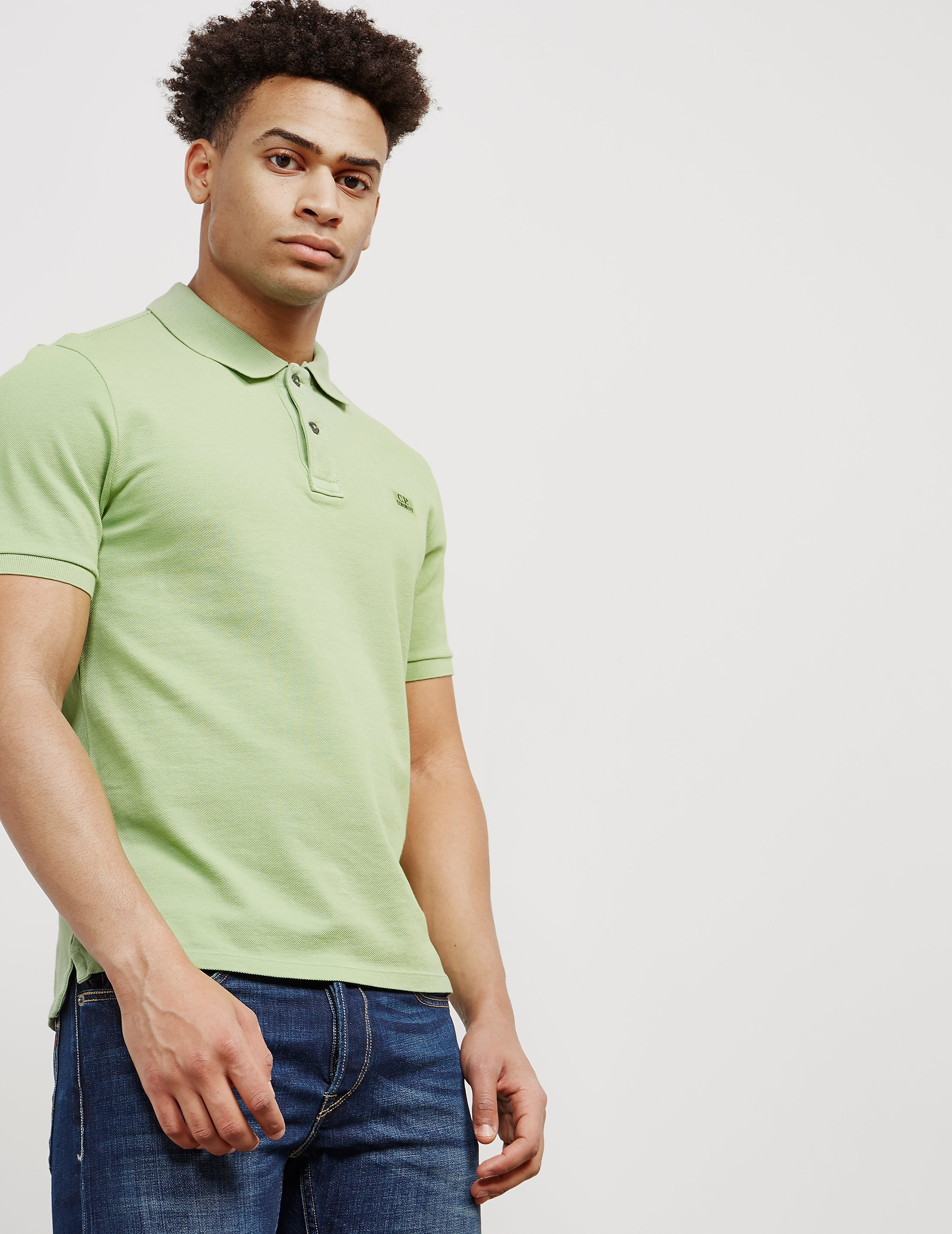 CP Company Pique Short Sleeve Polo Shirt