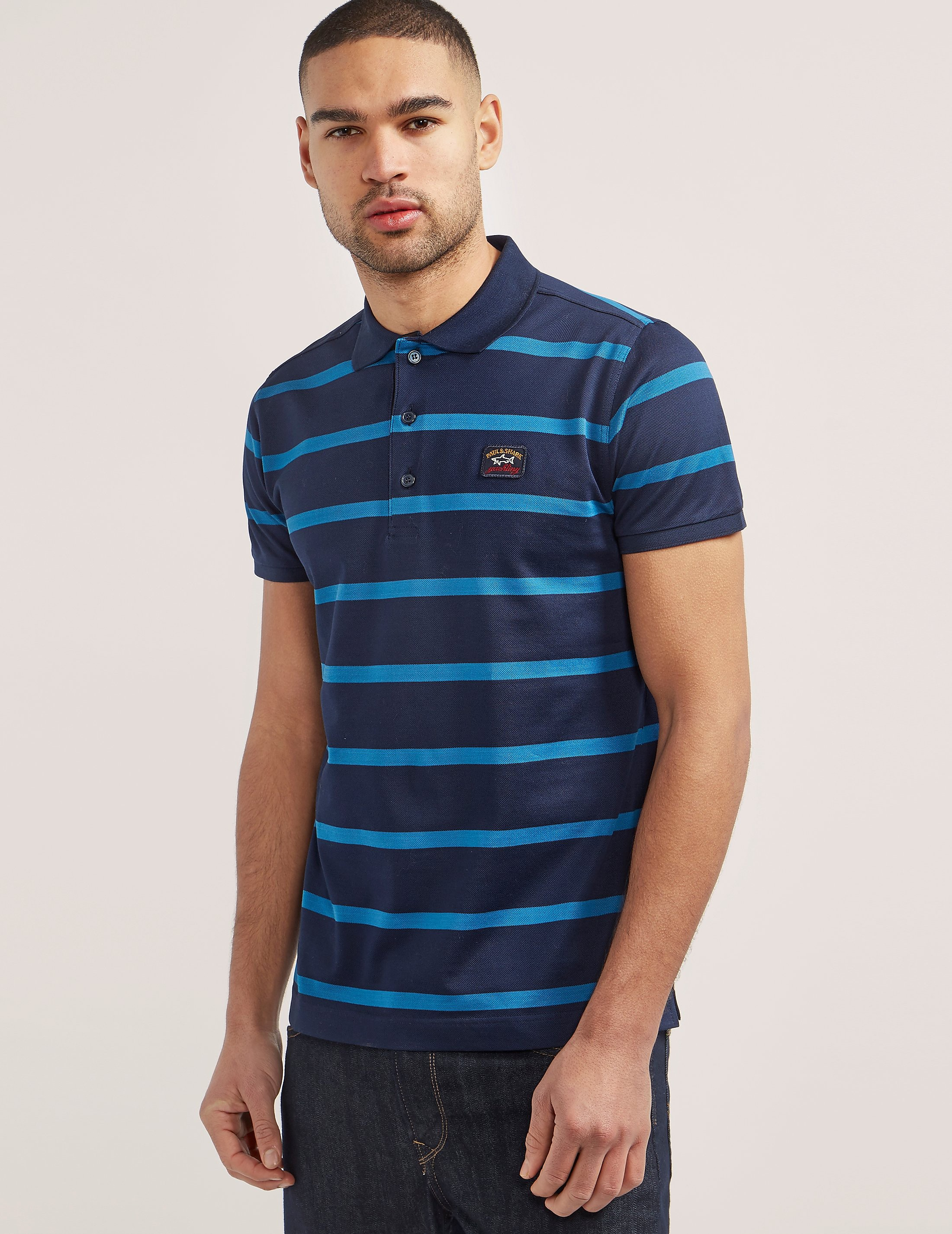 Paul and Shark Thin Stripe Polo Shirt