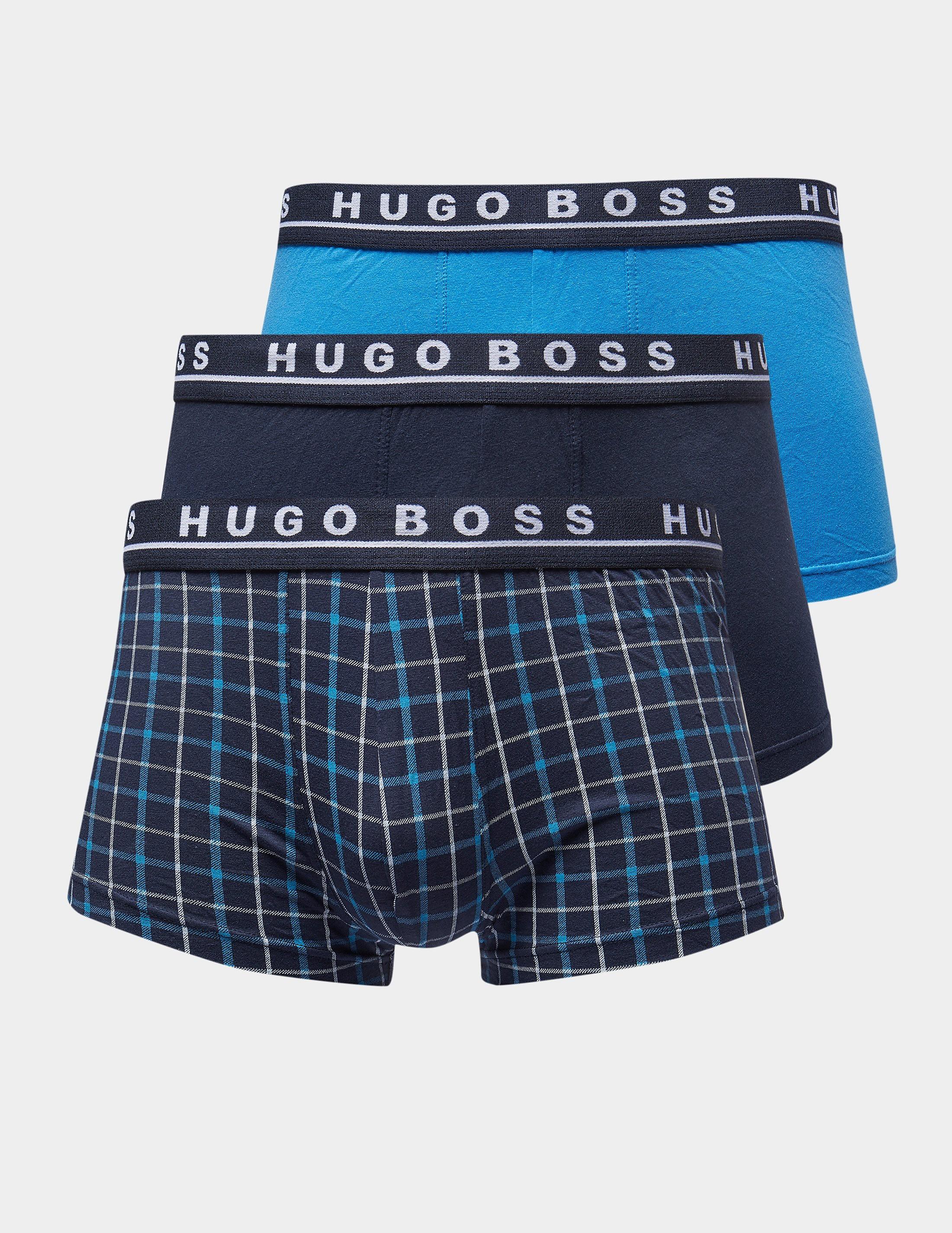 BOSS 3-Pack Check Boxer Shorts