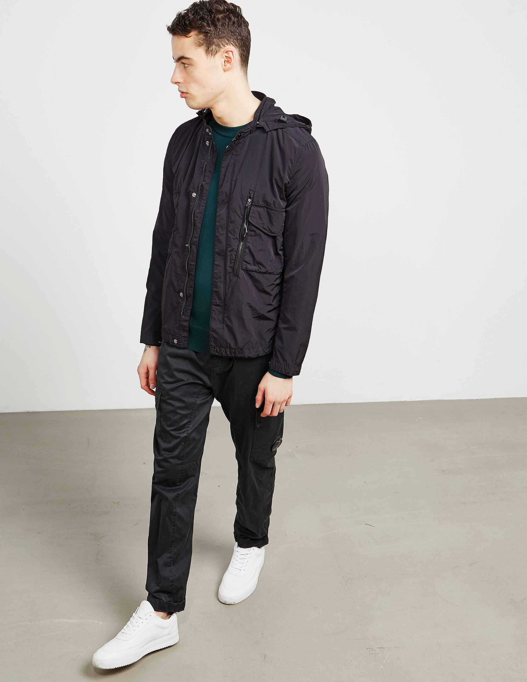 CP Company Chrome Hooded Shirt Navy