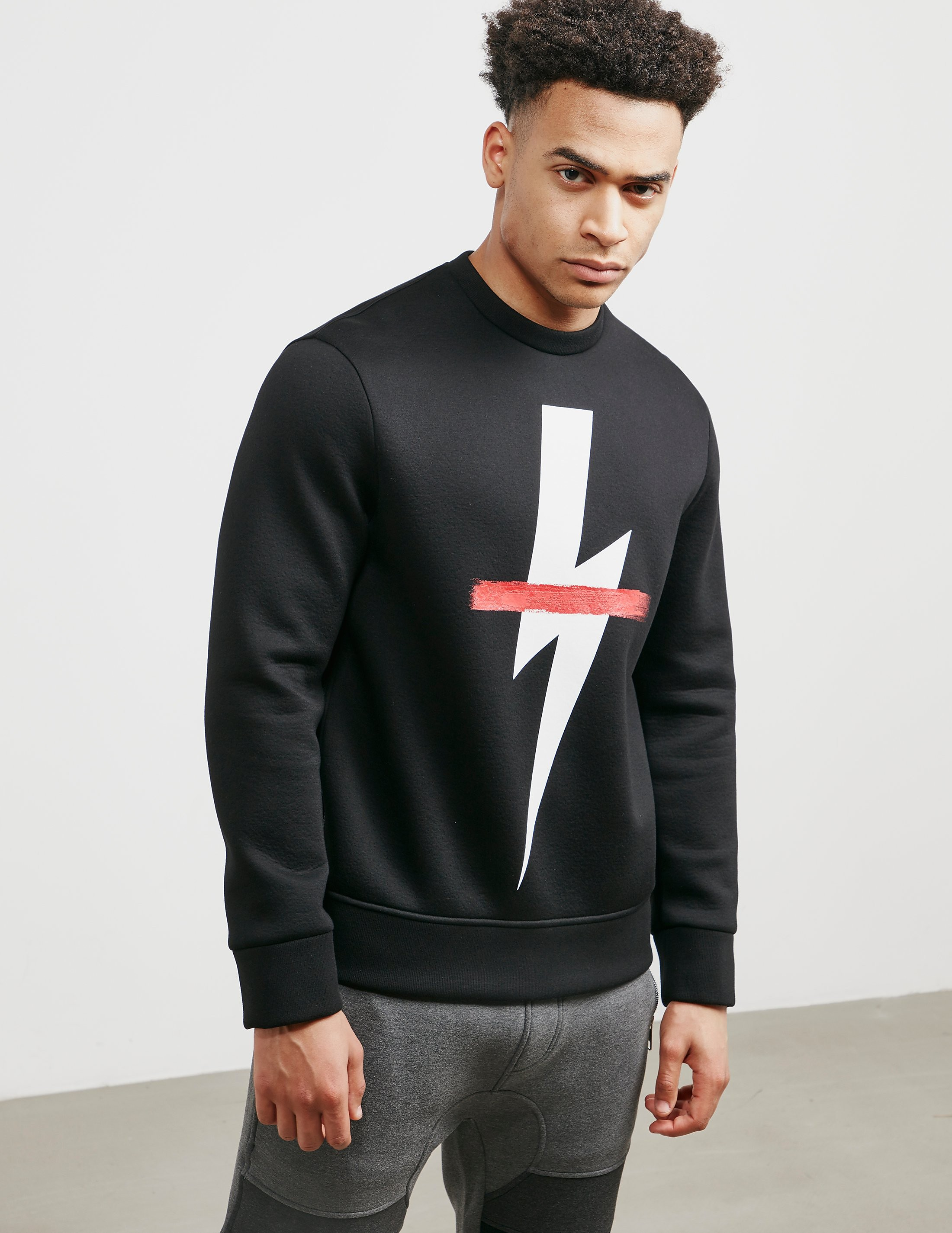 Neil Barrett Bolt Cross Sweatshirt