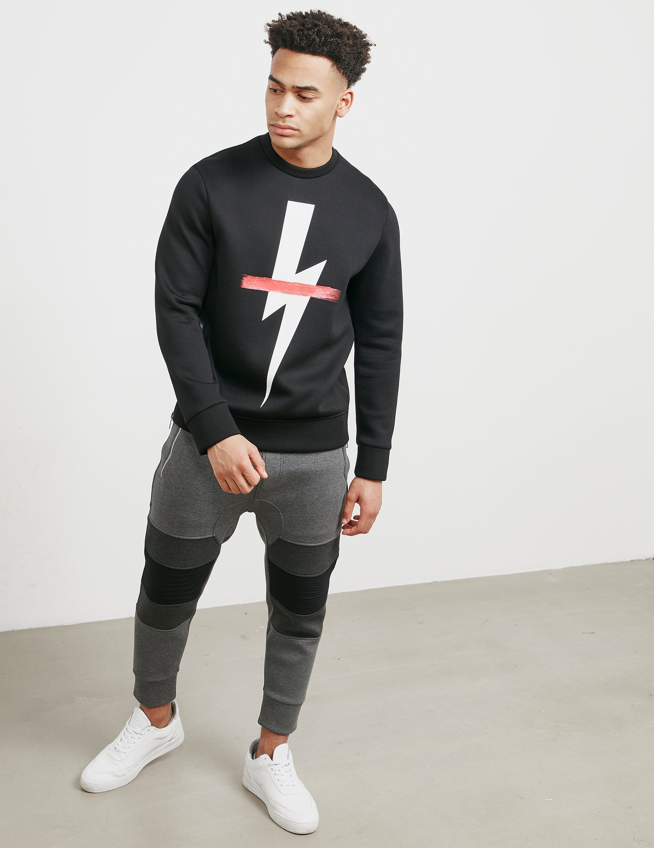 Neil Barrett Bolt Cross Sweatshirt