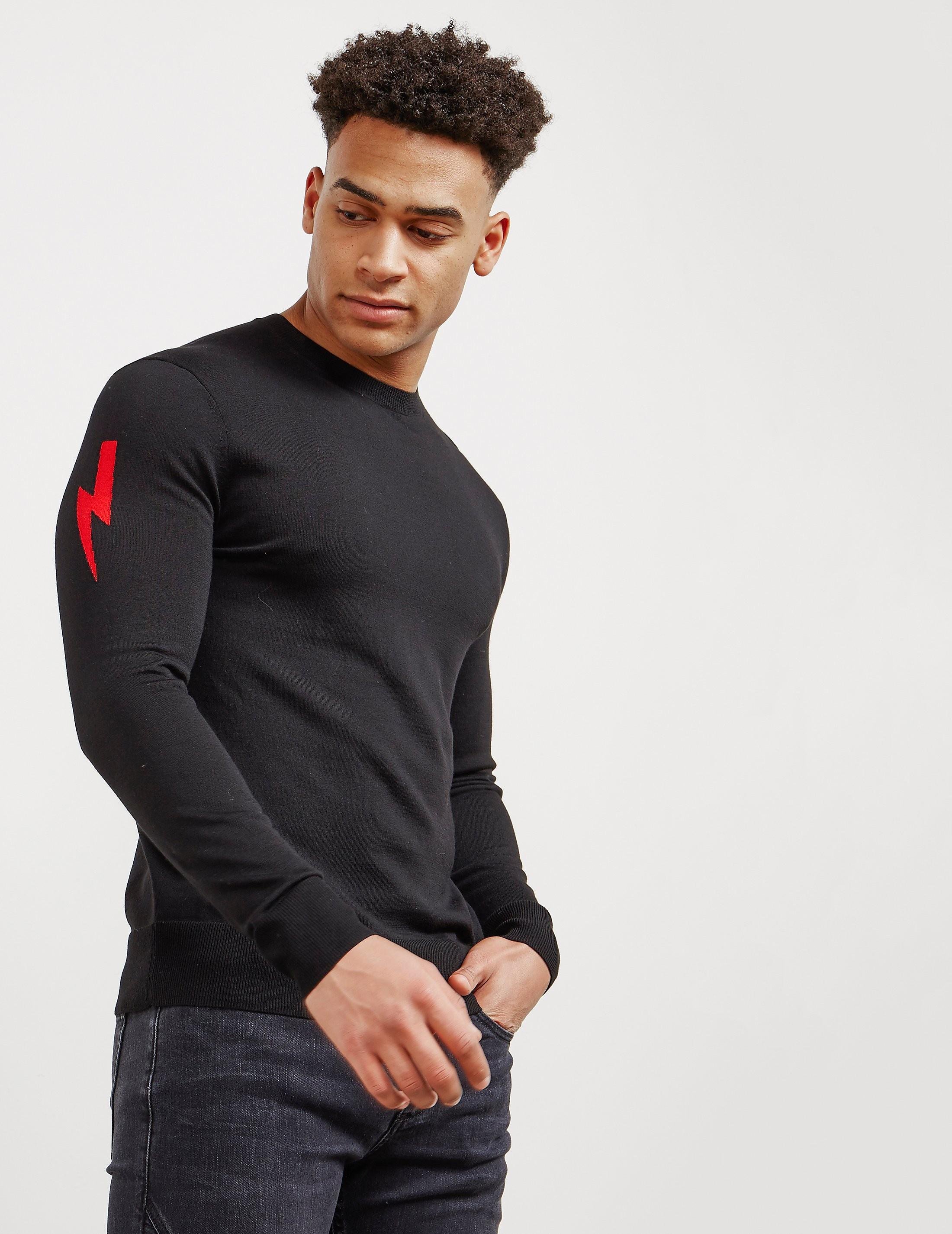 Neil Barrett Bolt Sleeve Knitted Jumper