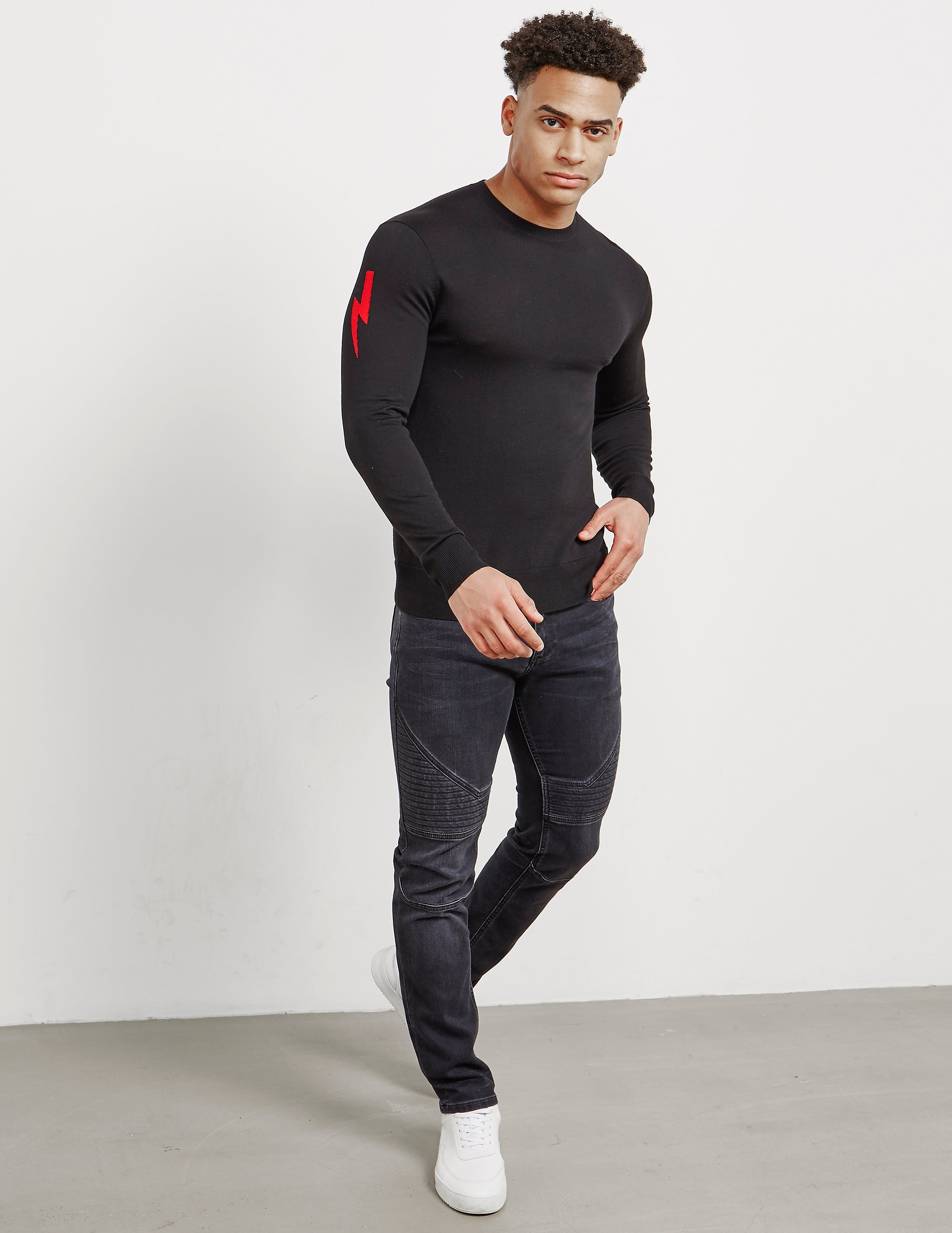 Neil Barrett Bolt Sleeve Knitted Jumper