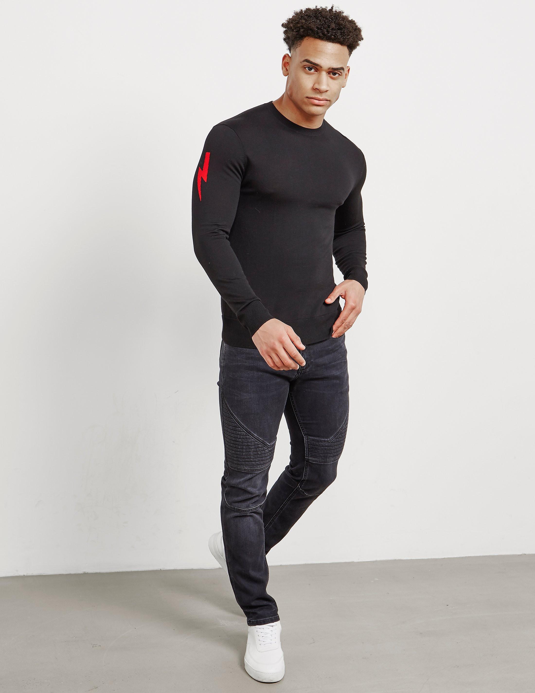 Neil Barrett Bolt Sleeve Knitted Jumper - Online Exclusive