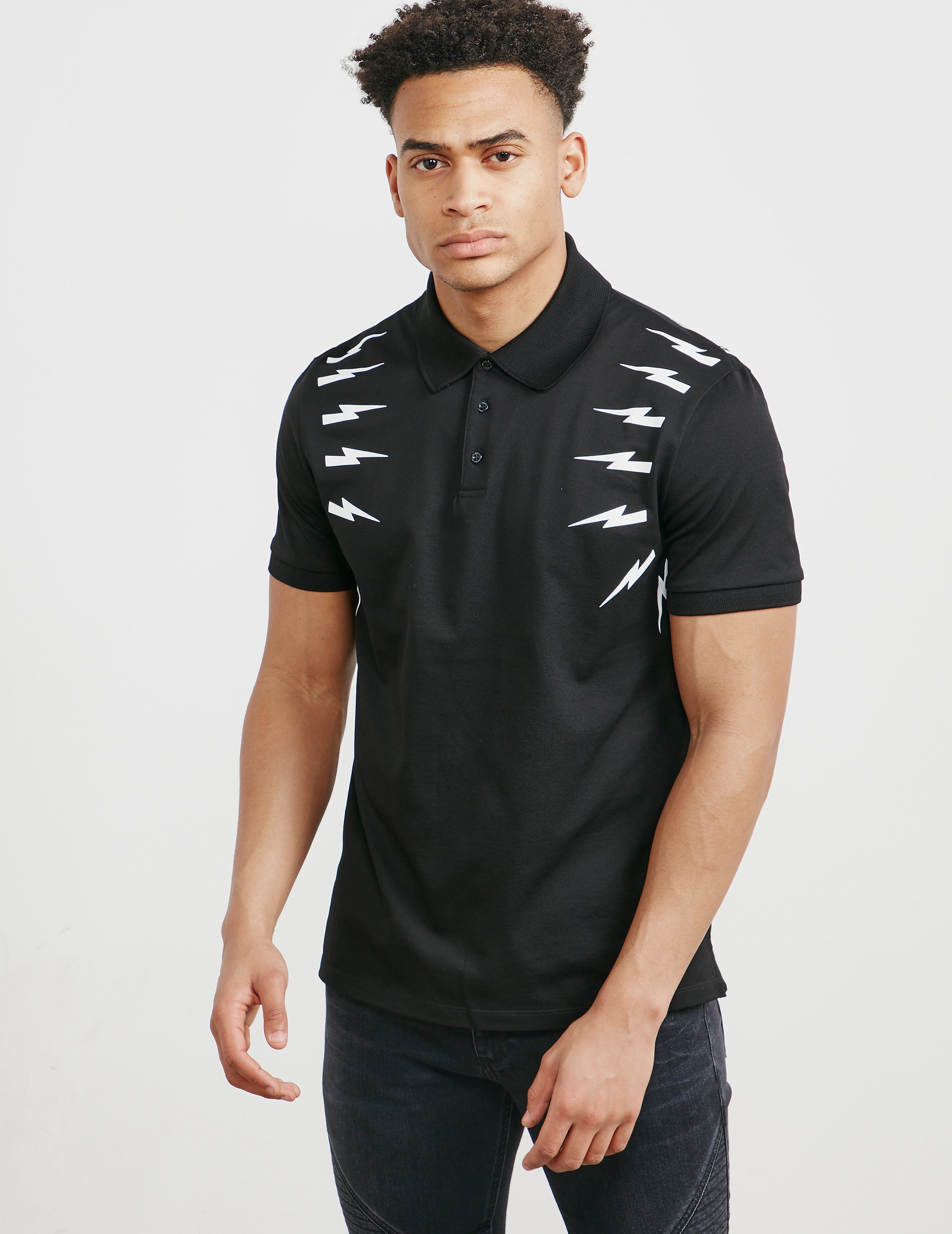 Neil Barrett Bolt Short Sleeve Polo Shirt