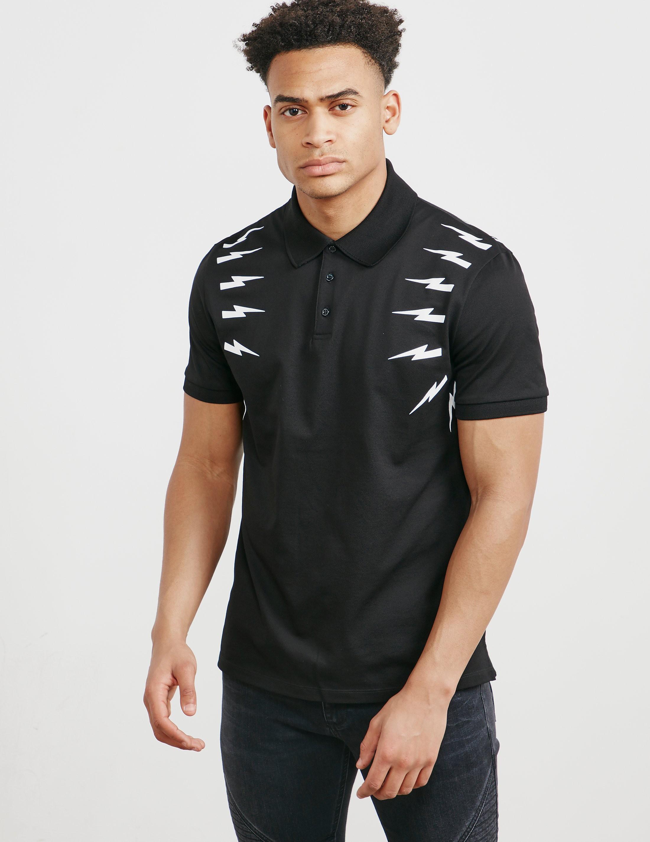 Neil Barrett Bolt Short Sleeve Polo Shirt