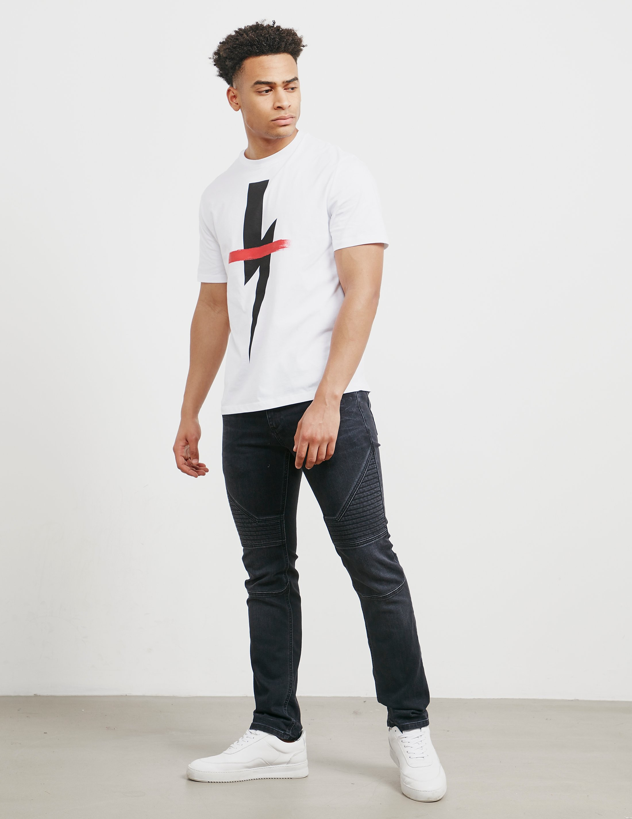 Neil Barrett Bolt Cross Short Sleeve T-Shirt