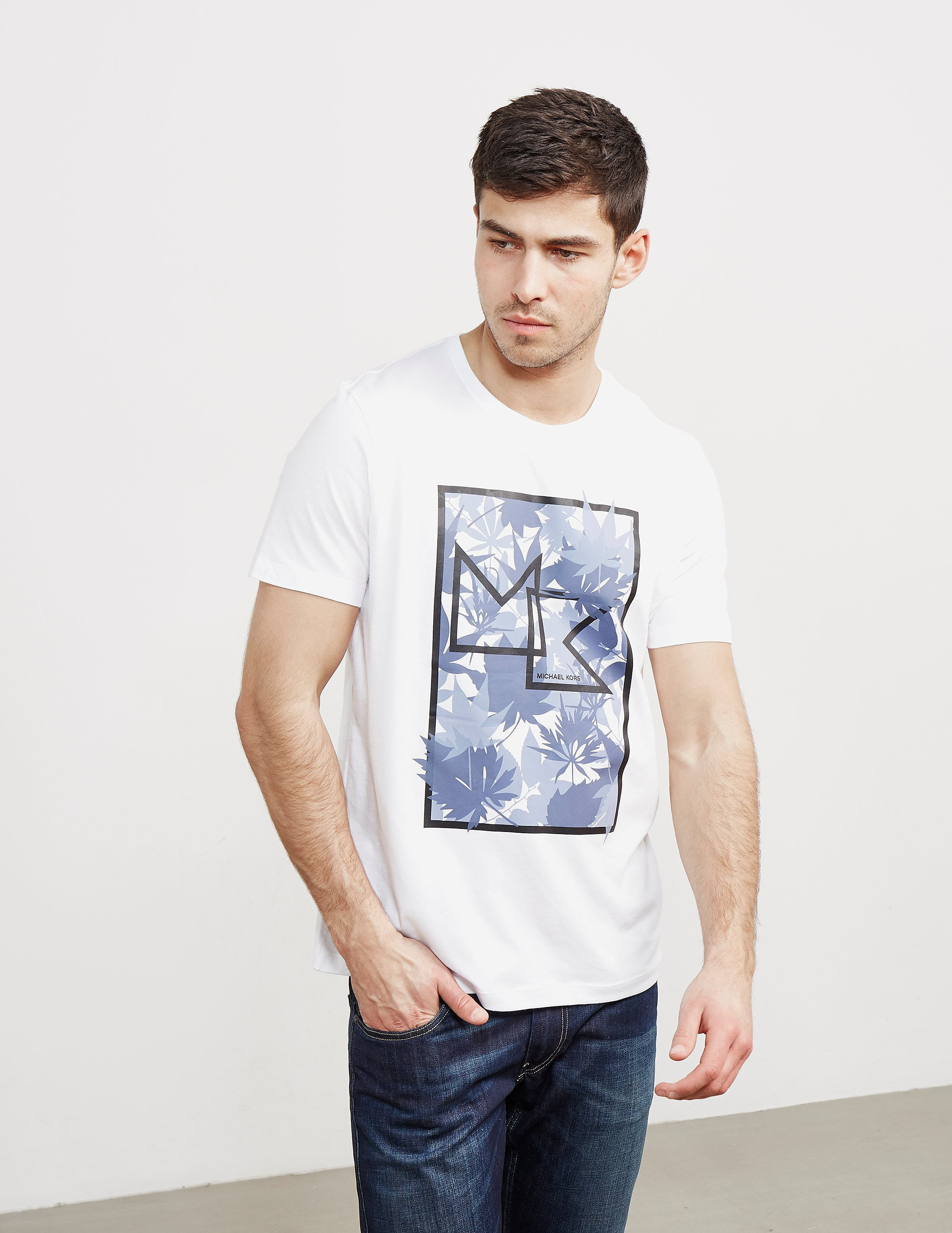 Michael Kors Palm Print Short Sleeve T-Shirt