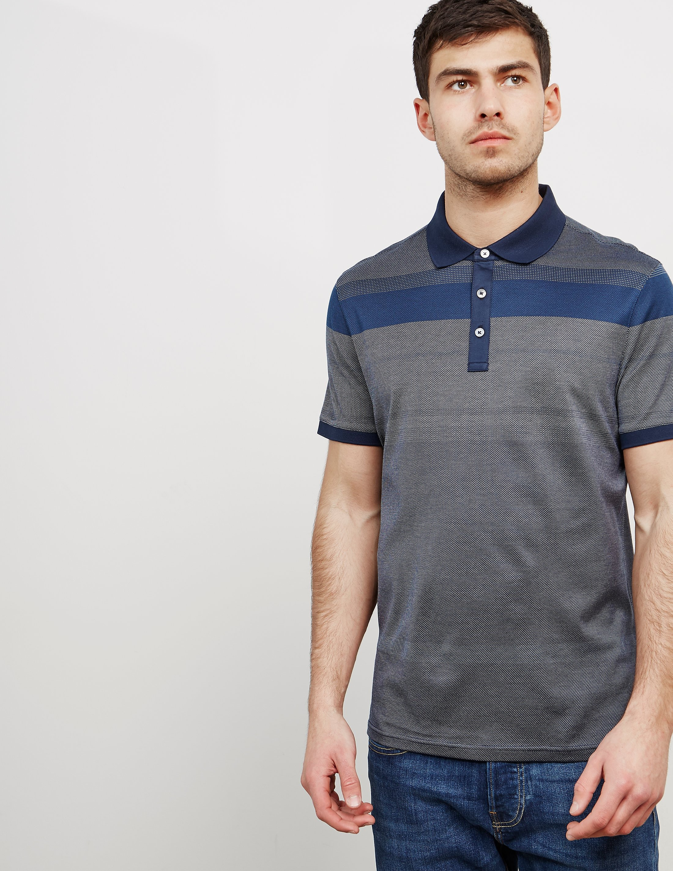 Michael Kors Stripe Short Sleeve Polo Shirt