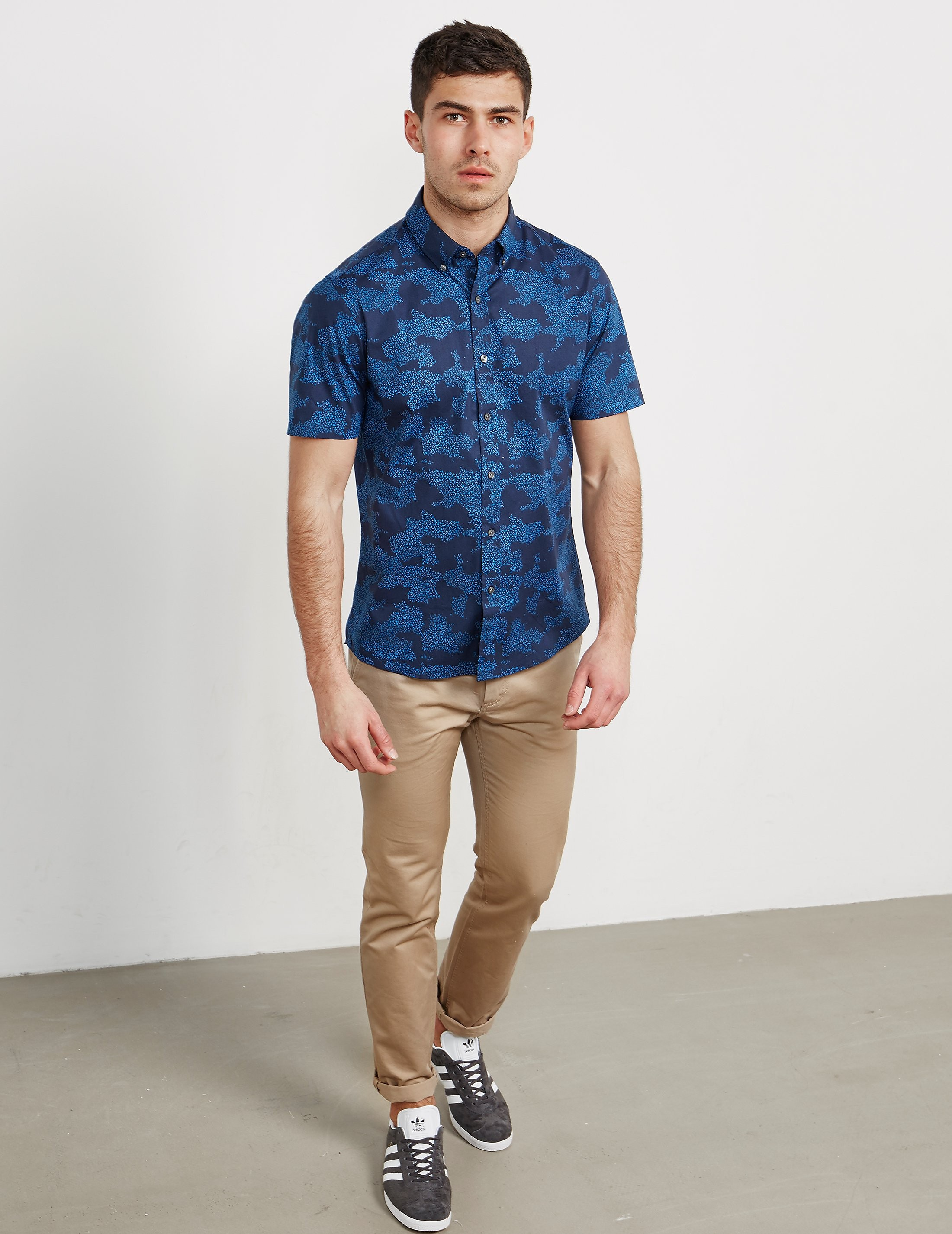 Michael Kors Dot Camo Short Sleeve Shirt