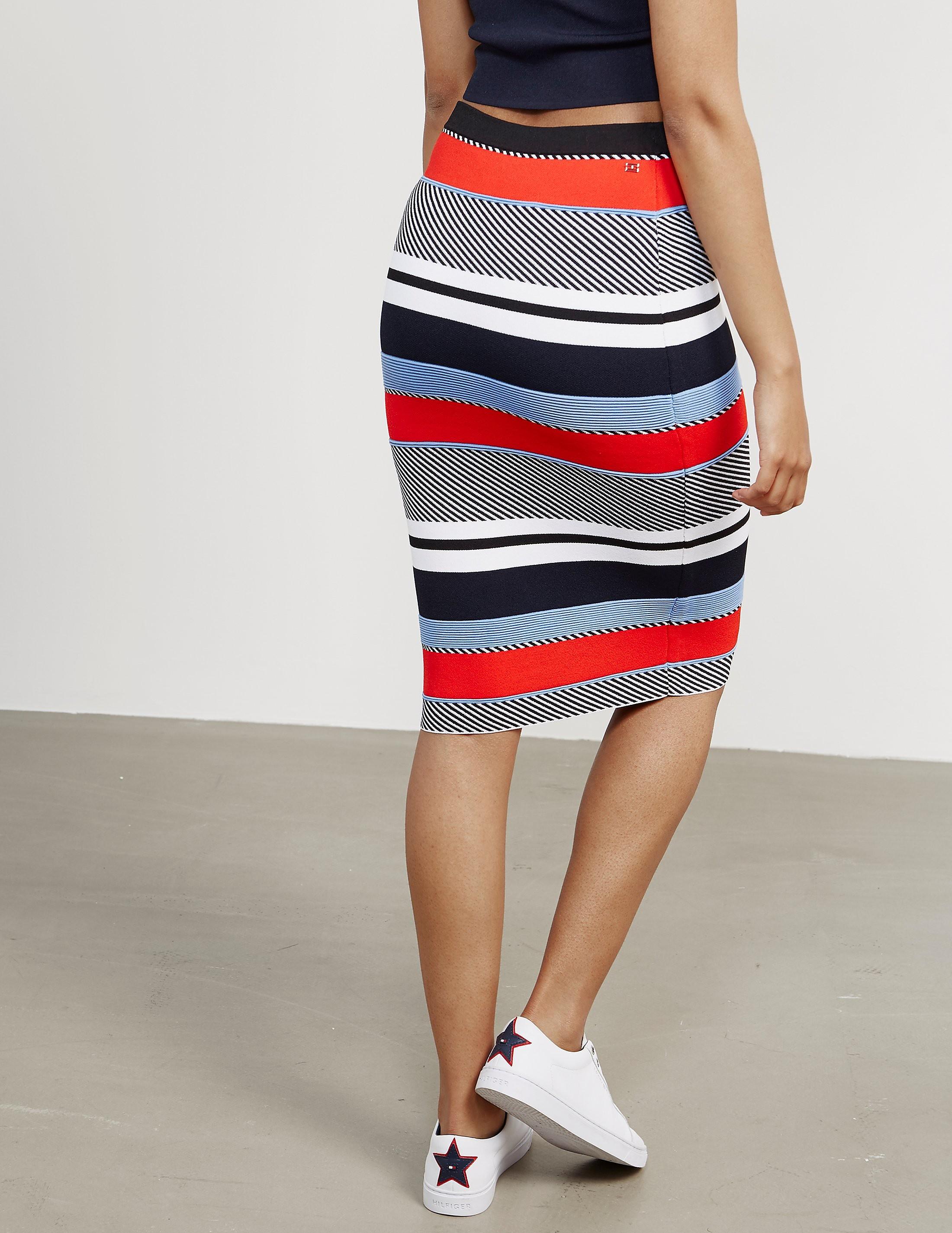 Tommy Hilfiger Pilaux Stripe Skirt