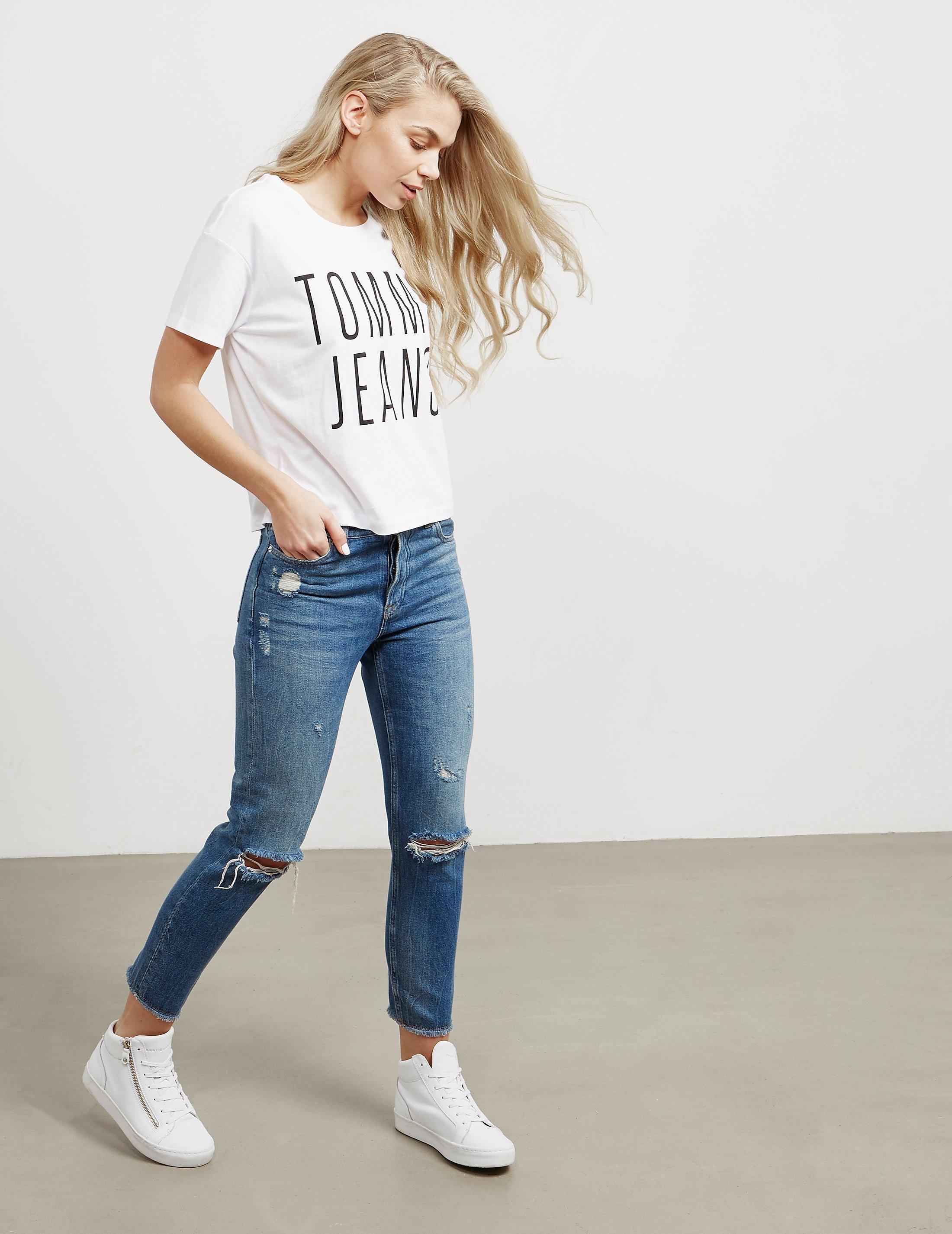 Tommy Hilfiger Crop Logo Short Sleeve T-Shirt