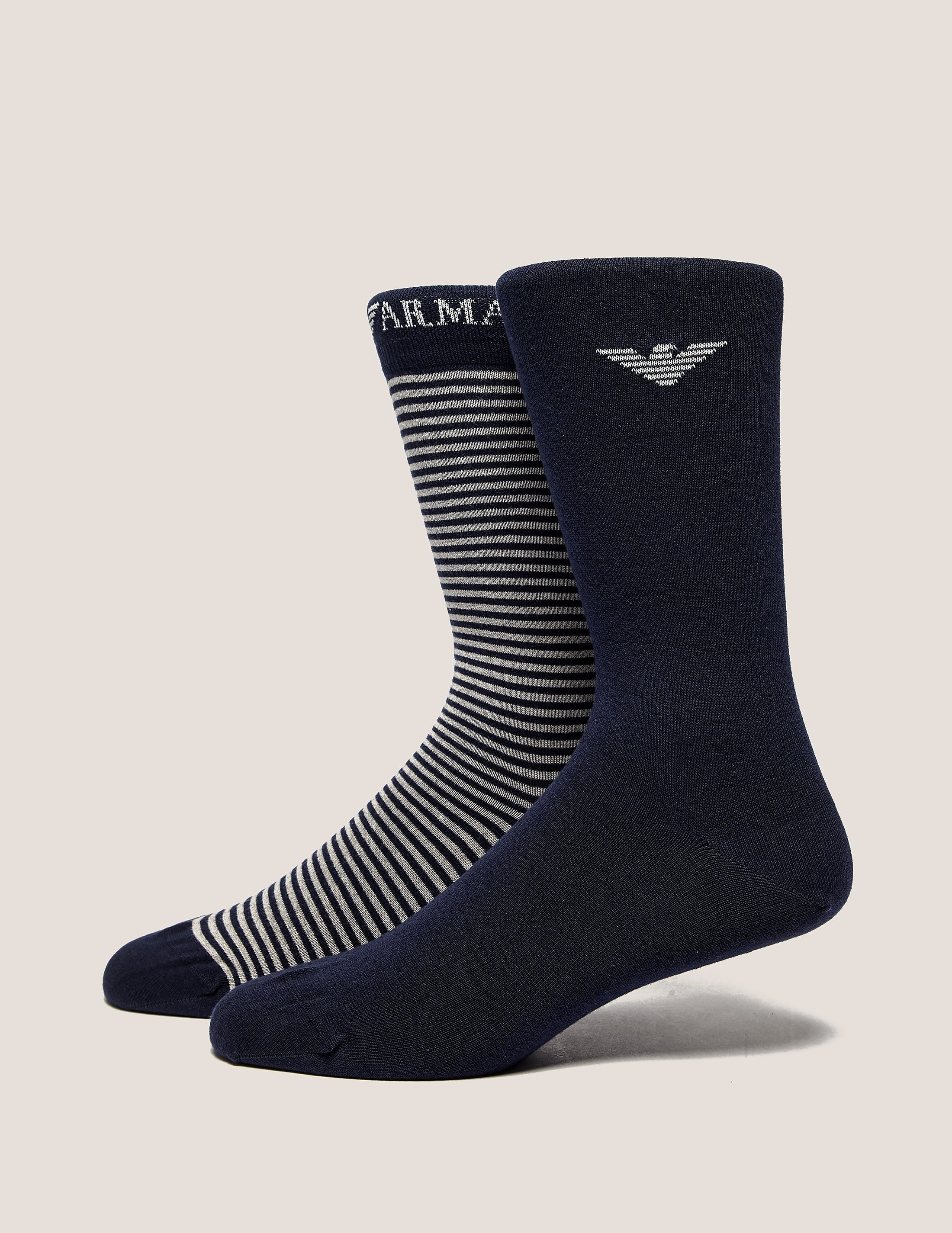 Emporio Armani 2 Pack Stripe Socks