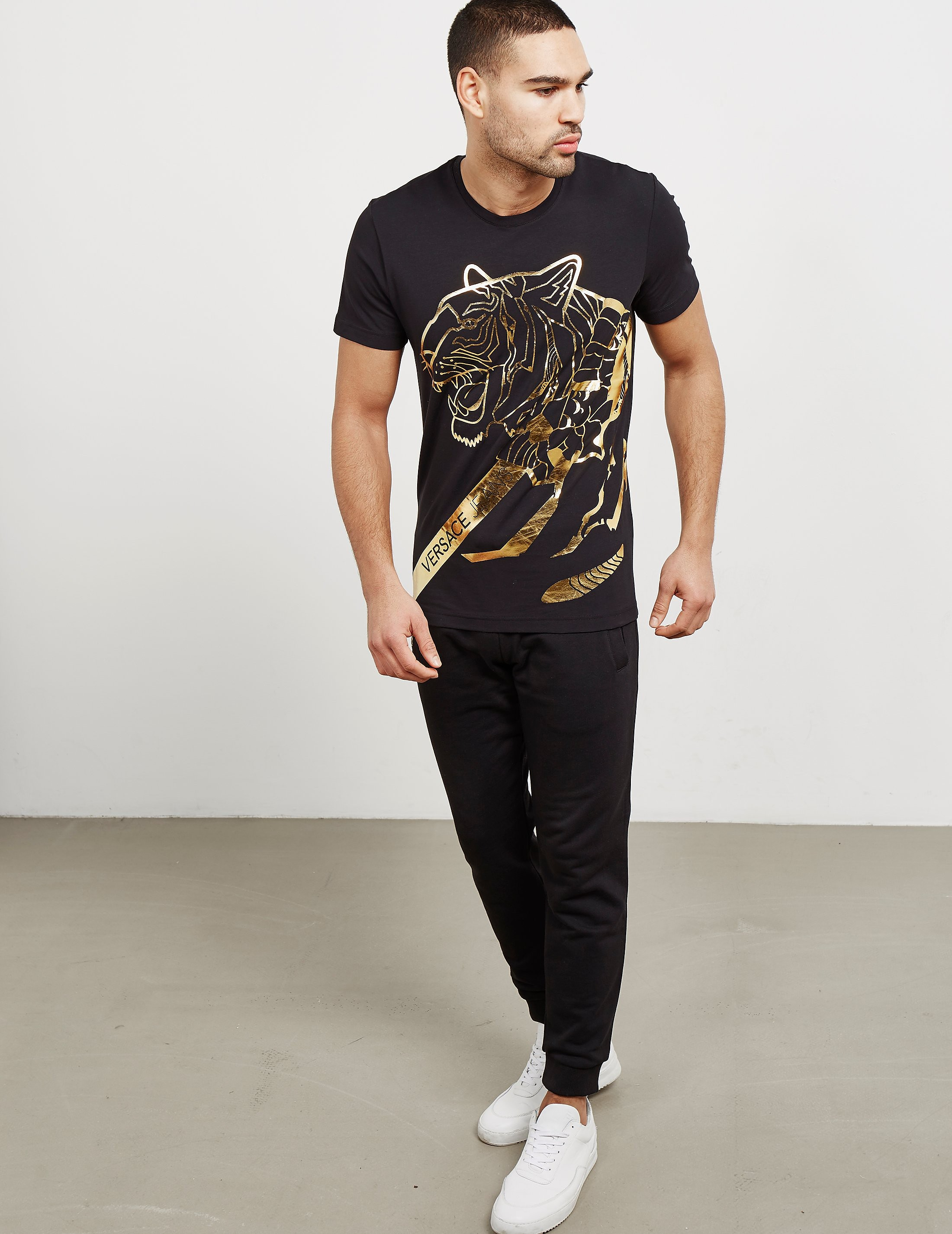 Versace Foil Tiger Short Sleeve T-Shirt