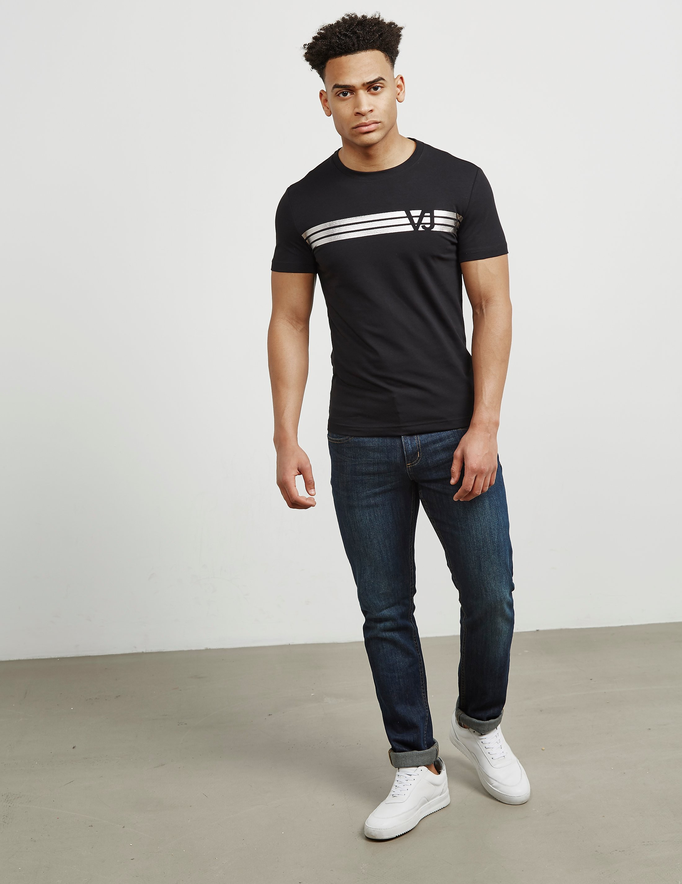 Versace Foil Stripe Short Sleeve T-Shirt