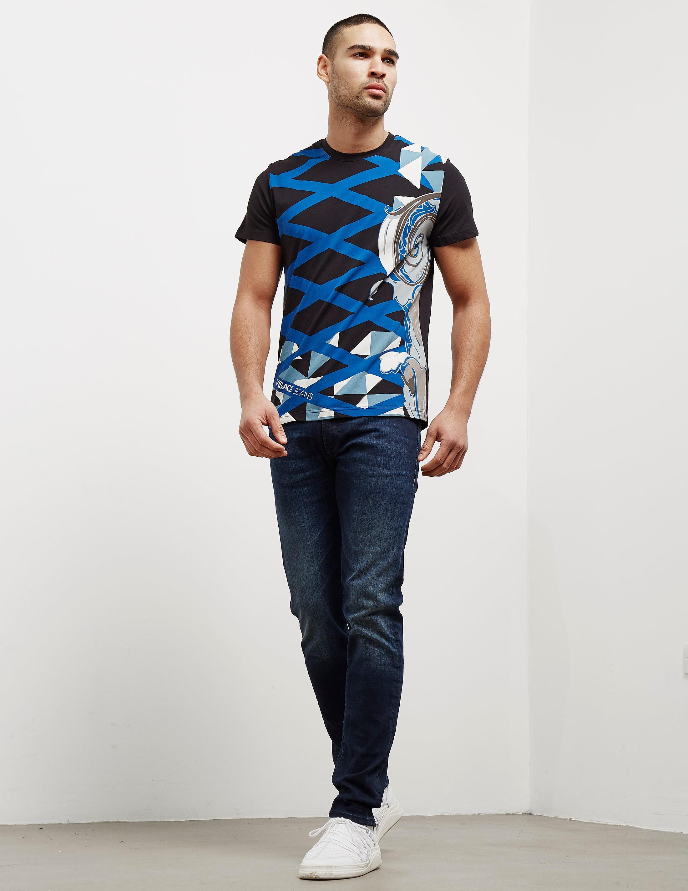 Versace Paint Print Short Sleeve T-Shirt