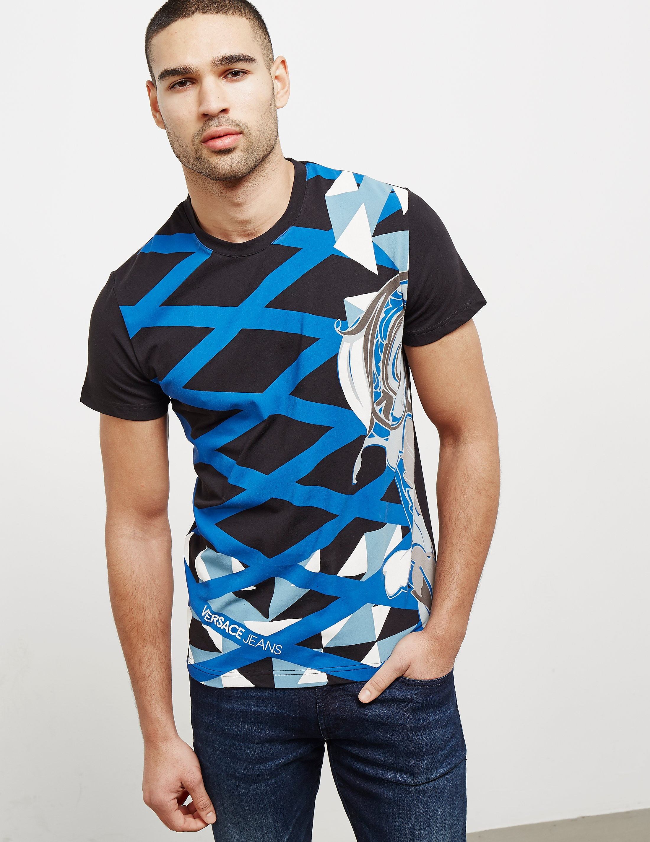 Versace Paint Print Short Sleeve T-Shirt