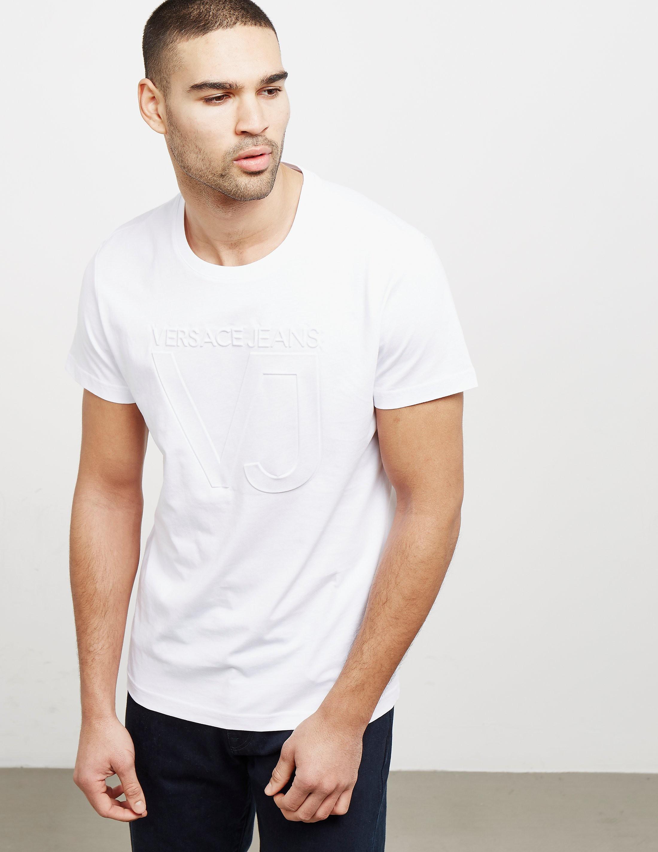 Versace Emboss Logo Short Sleeve T-Shirt