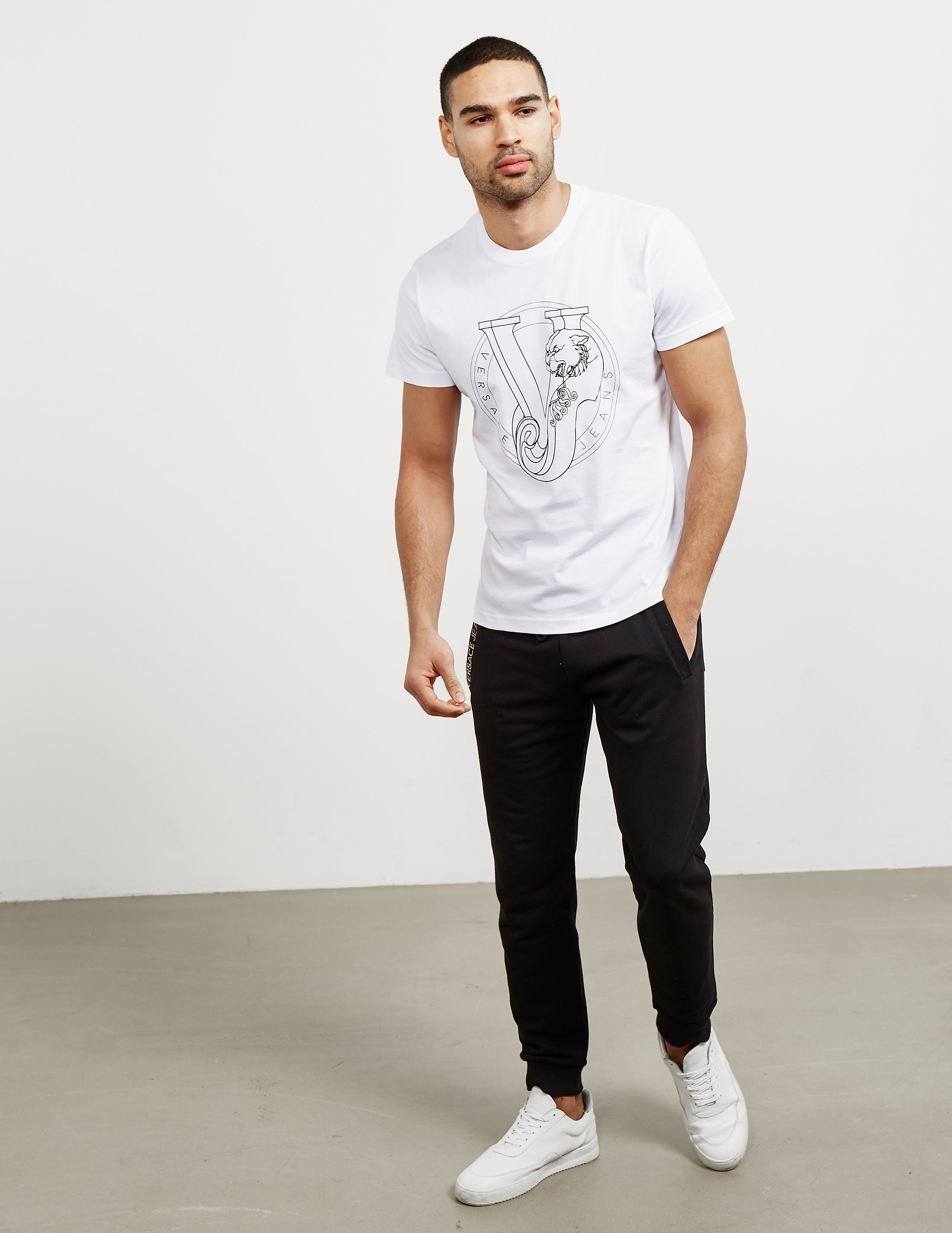 Versace Print Logo Short Sleeve T-Shirt