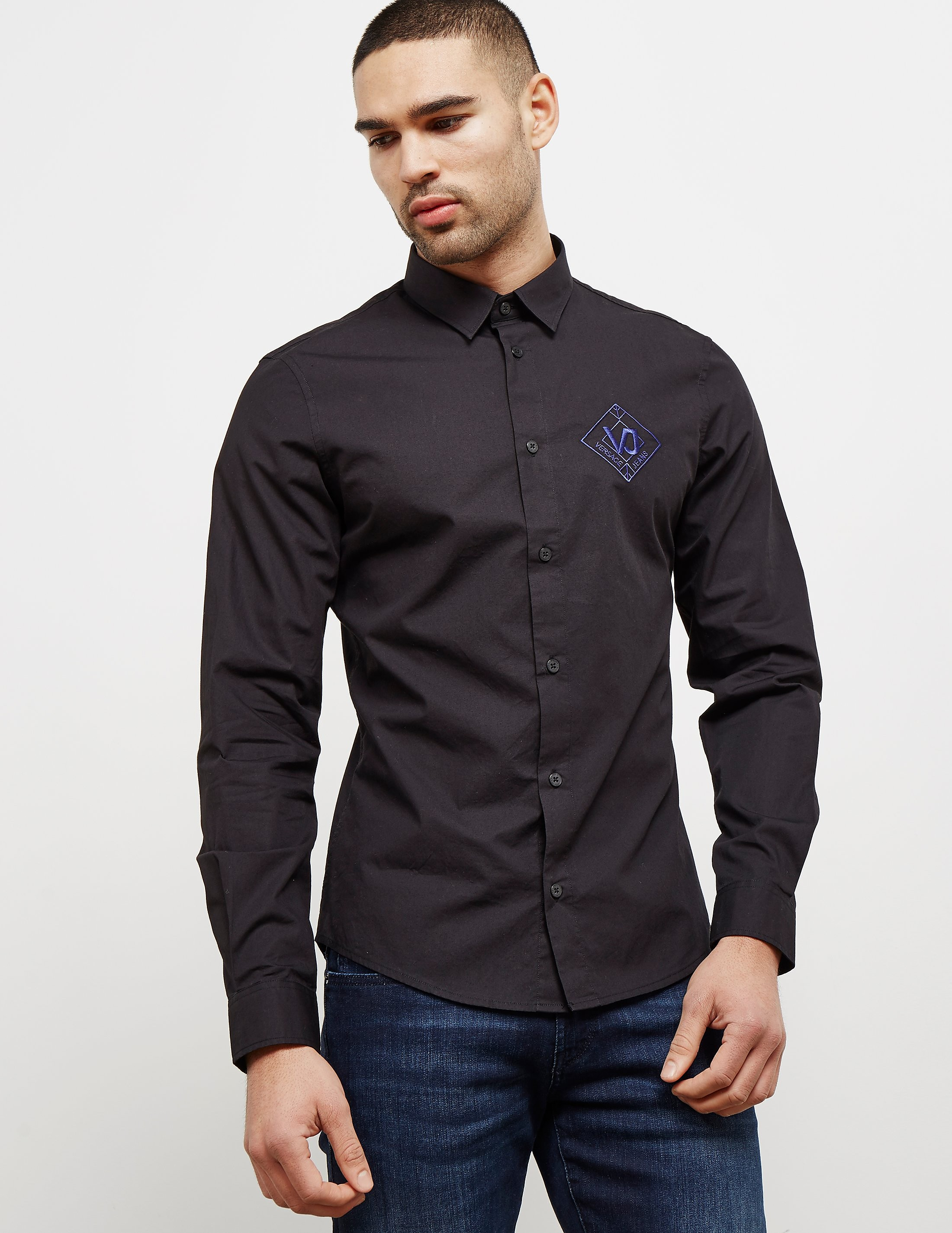 Versace Logo Long Sleeve Shirt