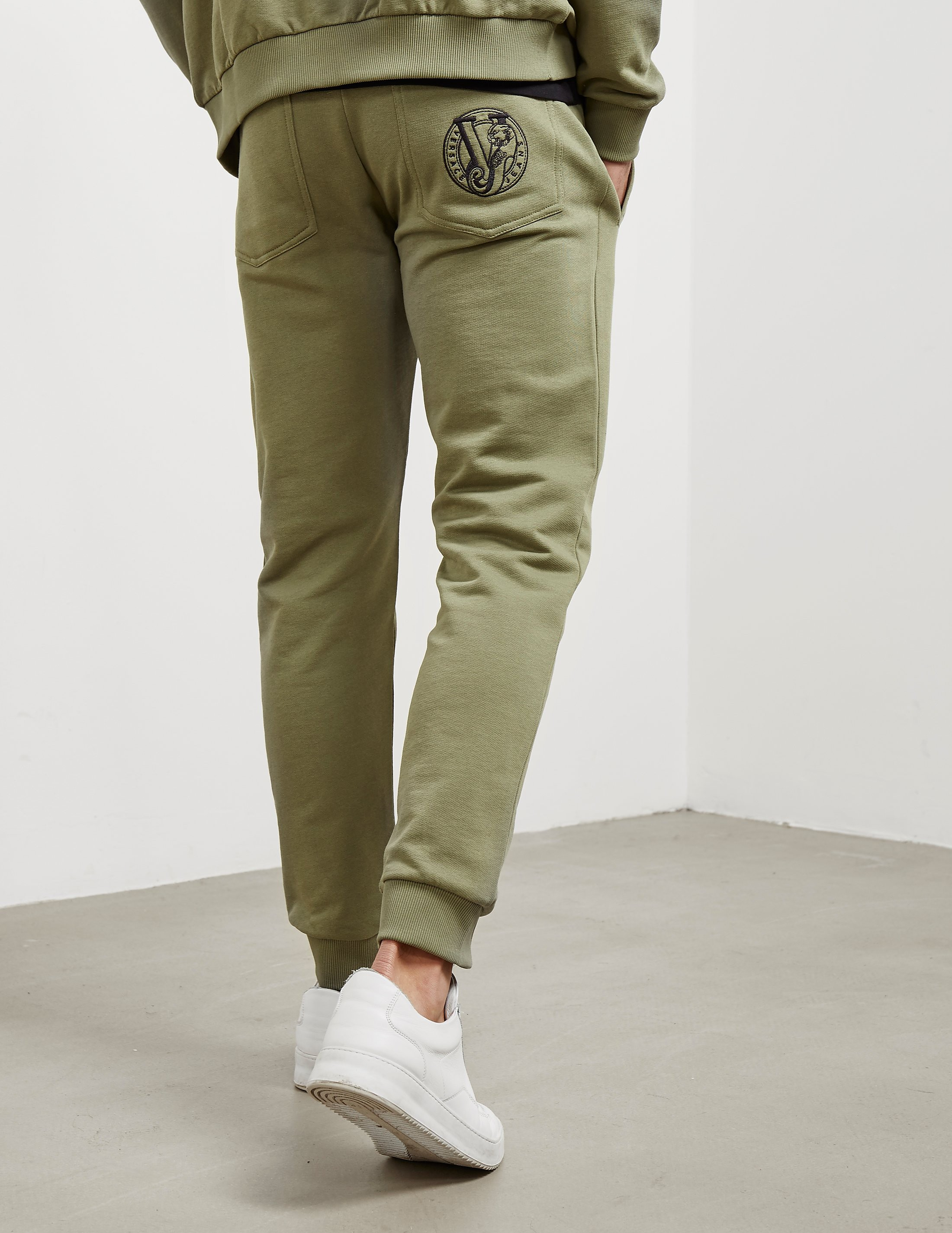 Versace Logo Fleece Track Pants