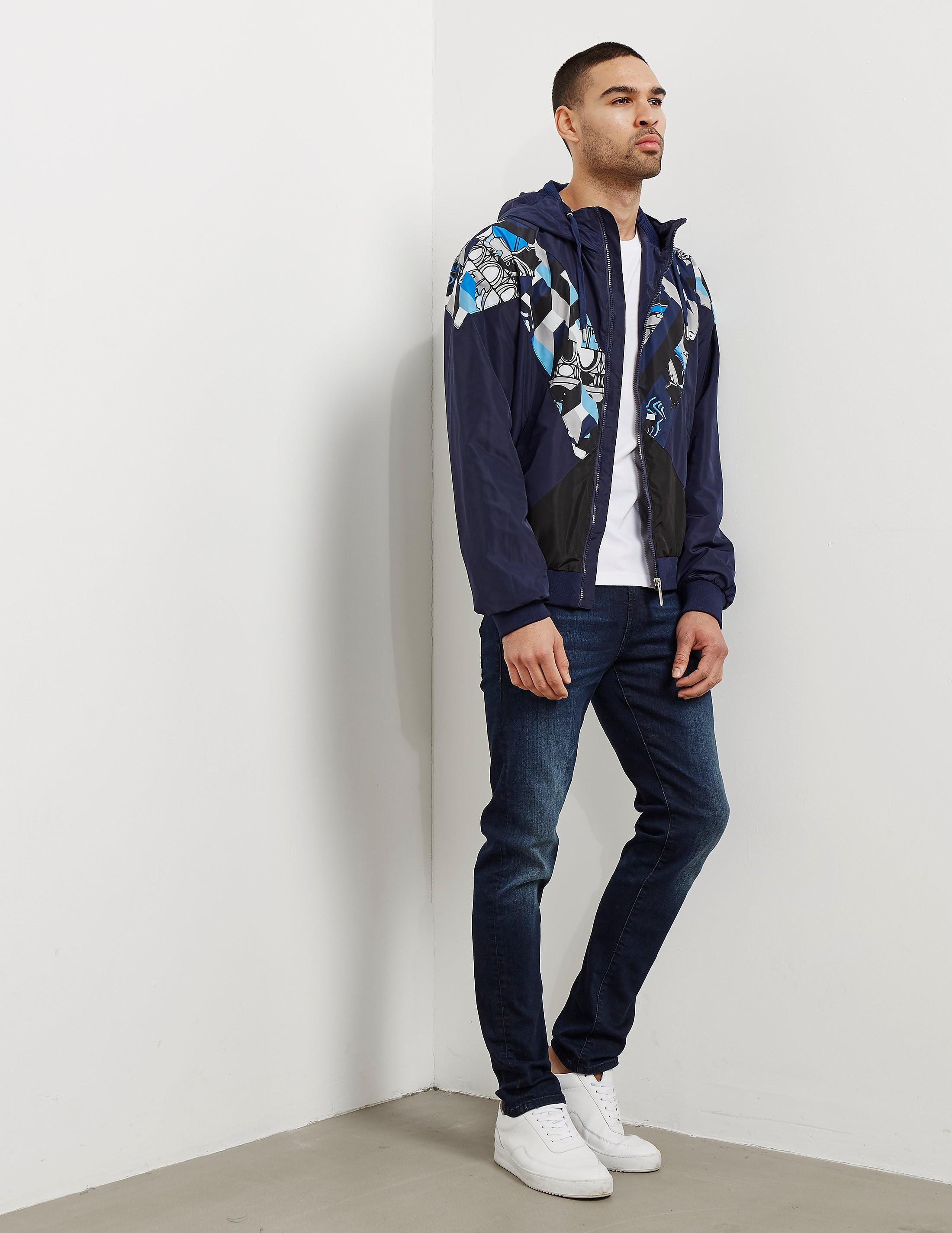 Versace Print Panel Hooded Jacket