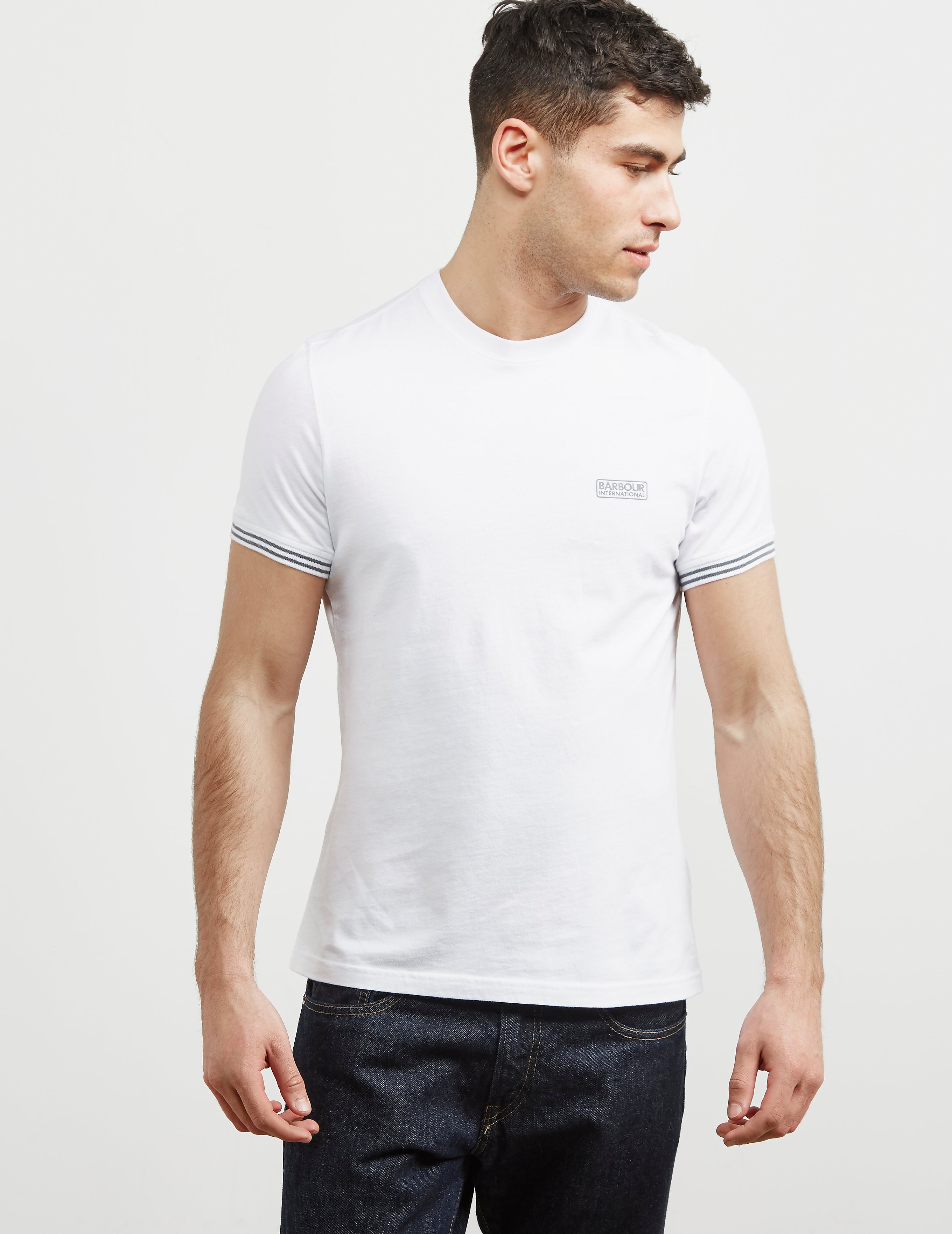 Barbour International Cable Tipped Short Sleeve T-Shirt
