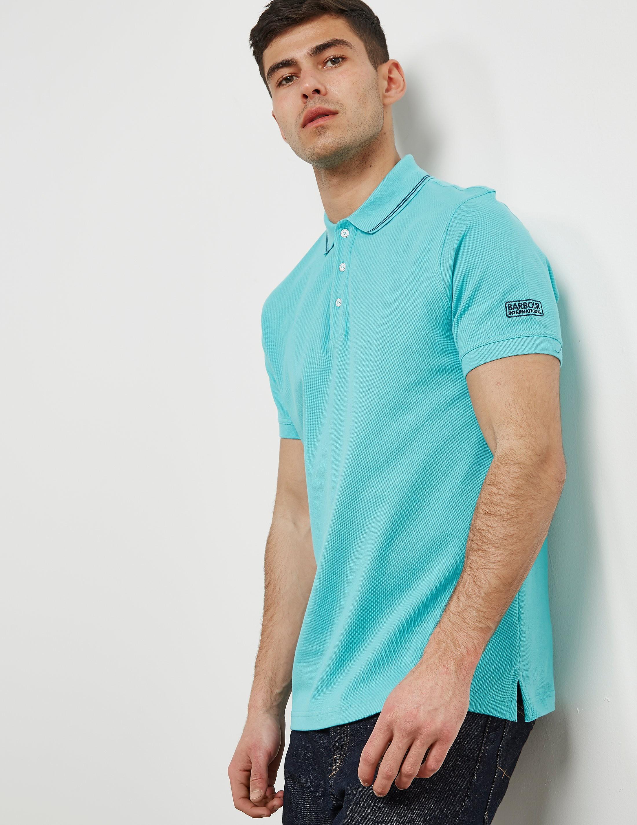 Barbour International Tipped Short Sleeve Pique Polo Shirt