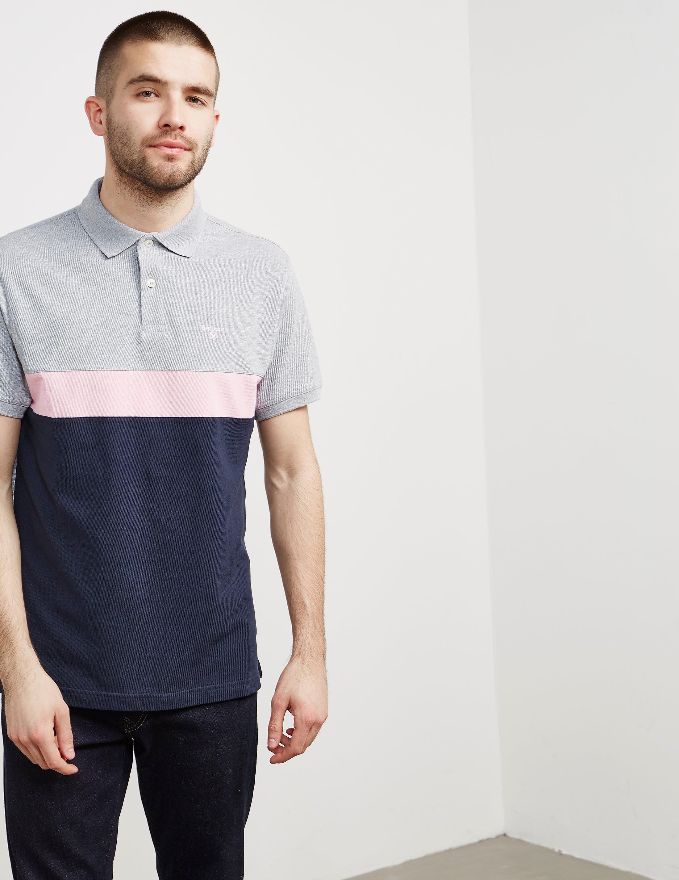 Barbour Colour Block Short Sleeve Polo Shirt