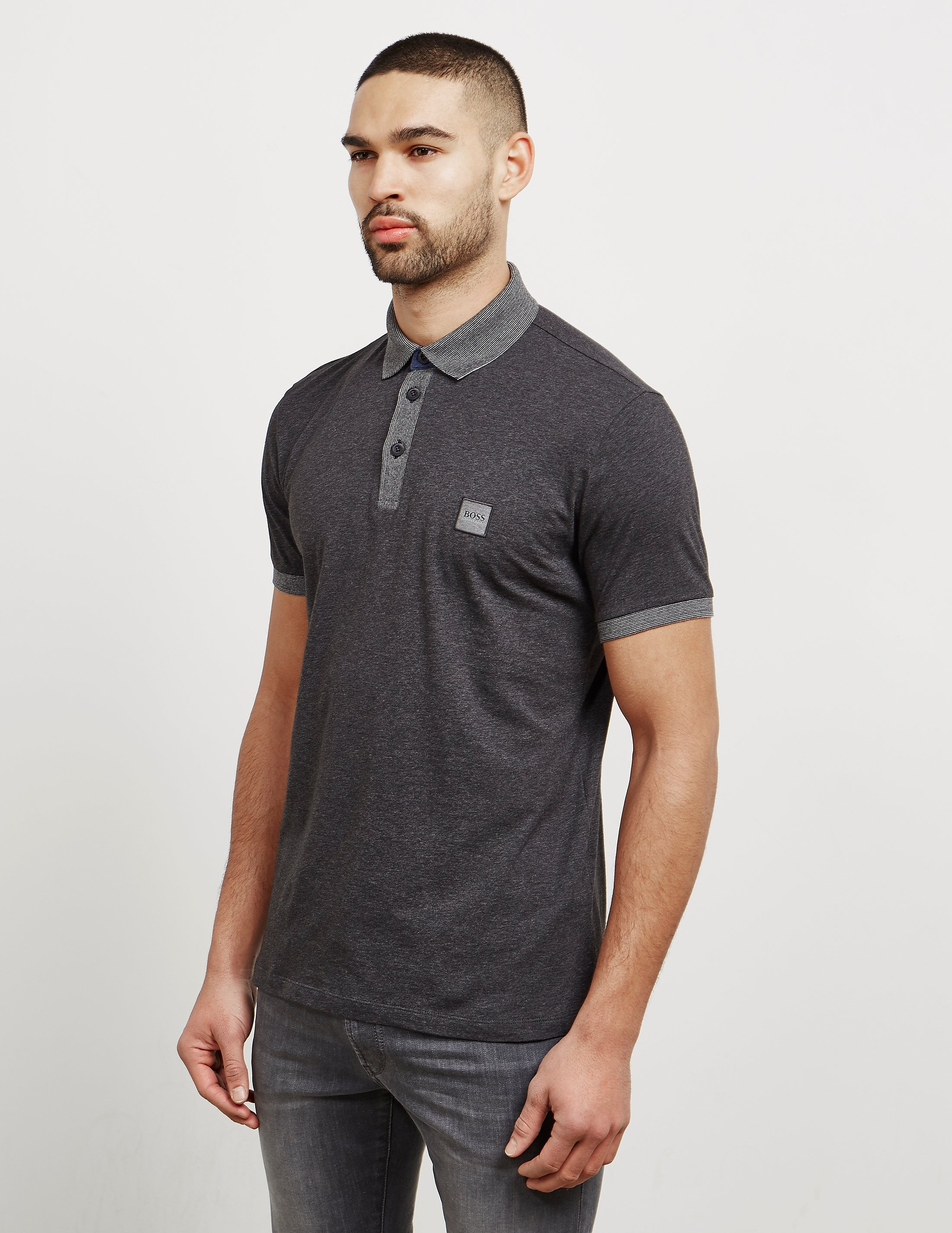 BOSS Pother Slub Short Sleeve Polo Shirt