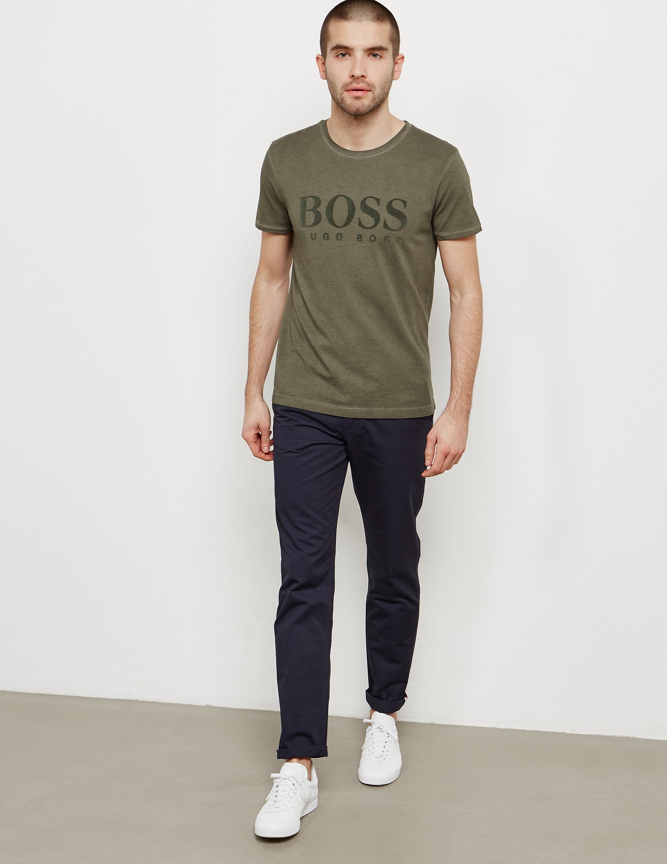 BOSS Tomlouis Flock Short Sleeve T-Shirt