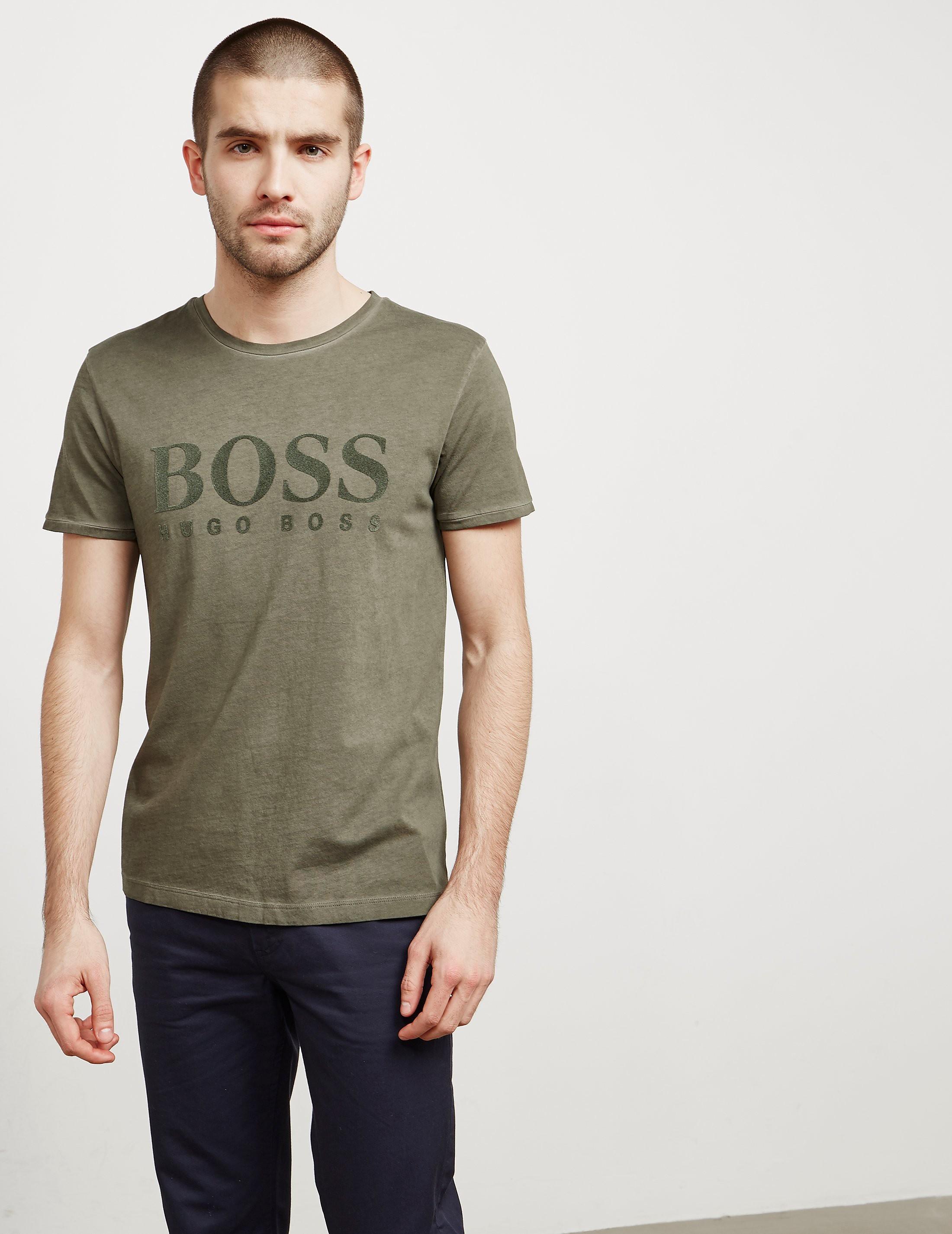 BOSS Orange Tomlouis Flock Short Sleeve T-Shirt