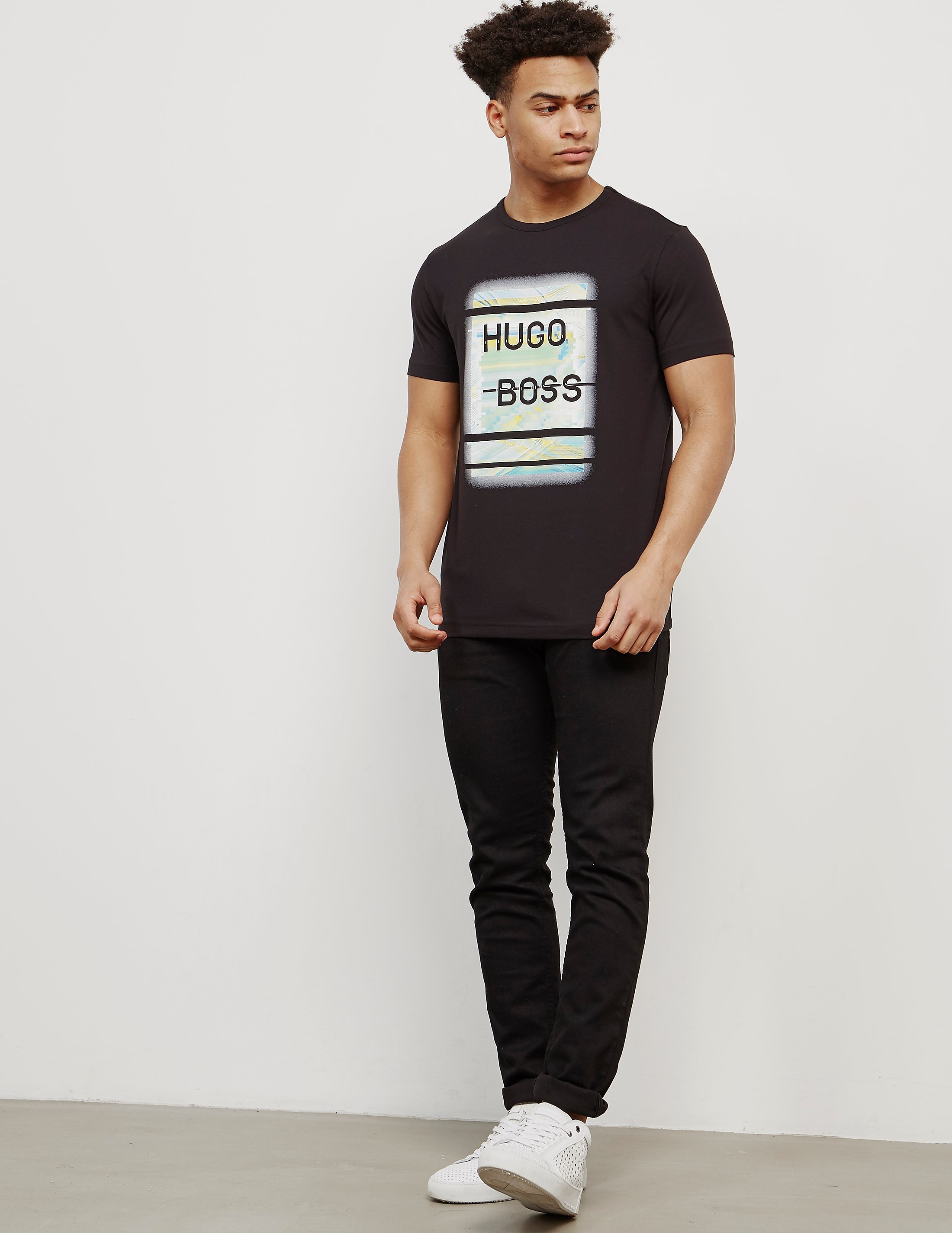 BOSS Pixel Logo Short Sleeve T-Shirt
