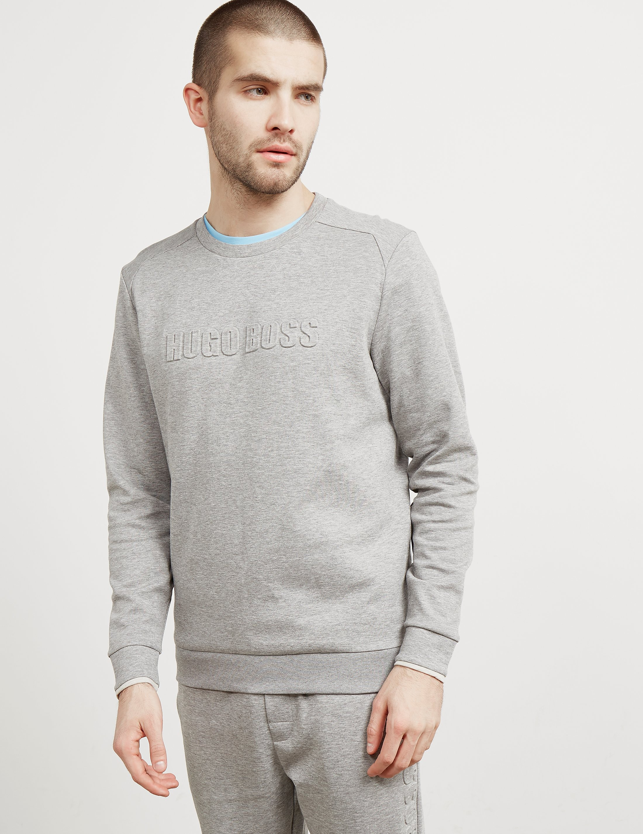 BOSS Embossed Crew Sweatshirt