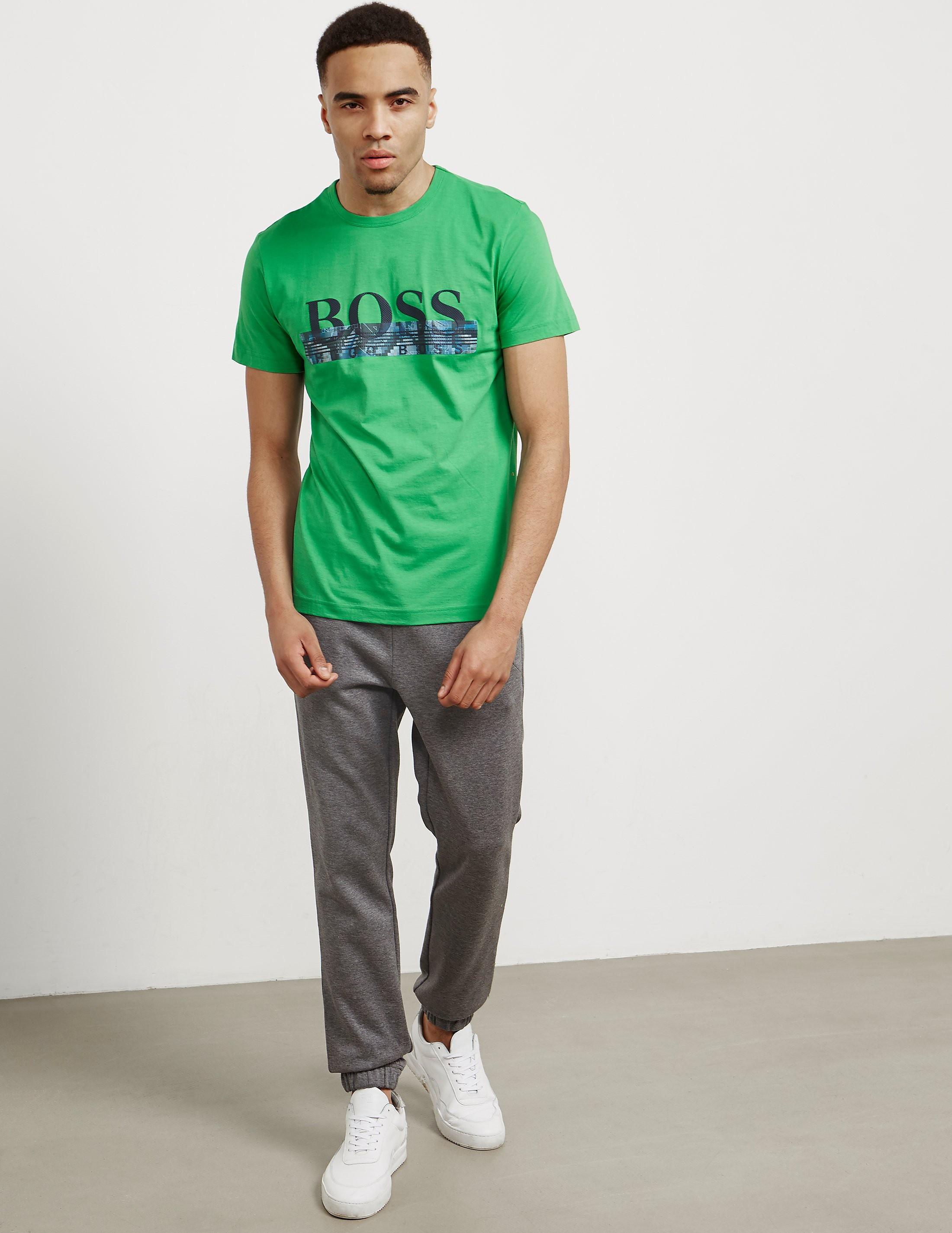 BOSS Green Contrast Logo Short Sleeve T-Shirt