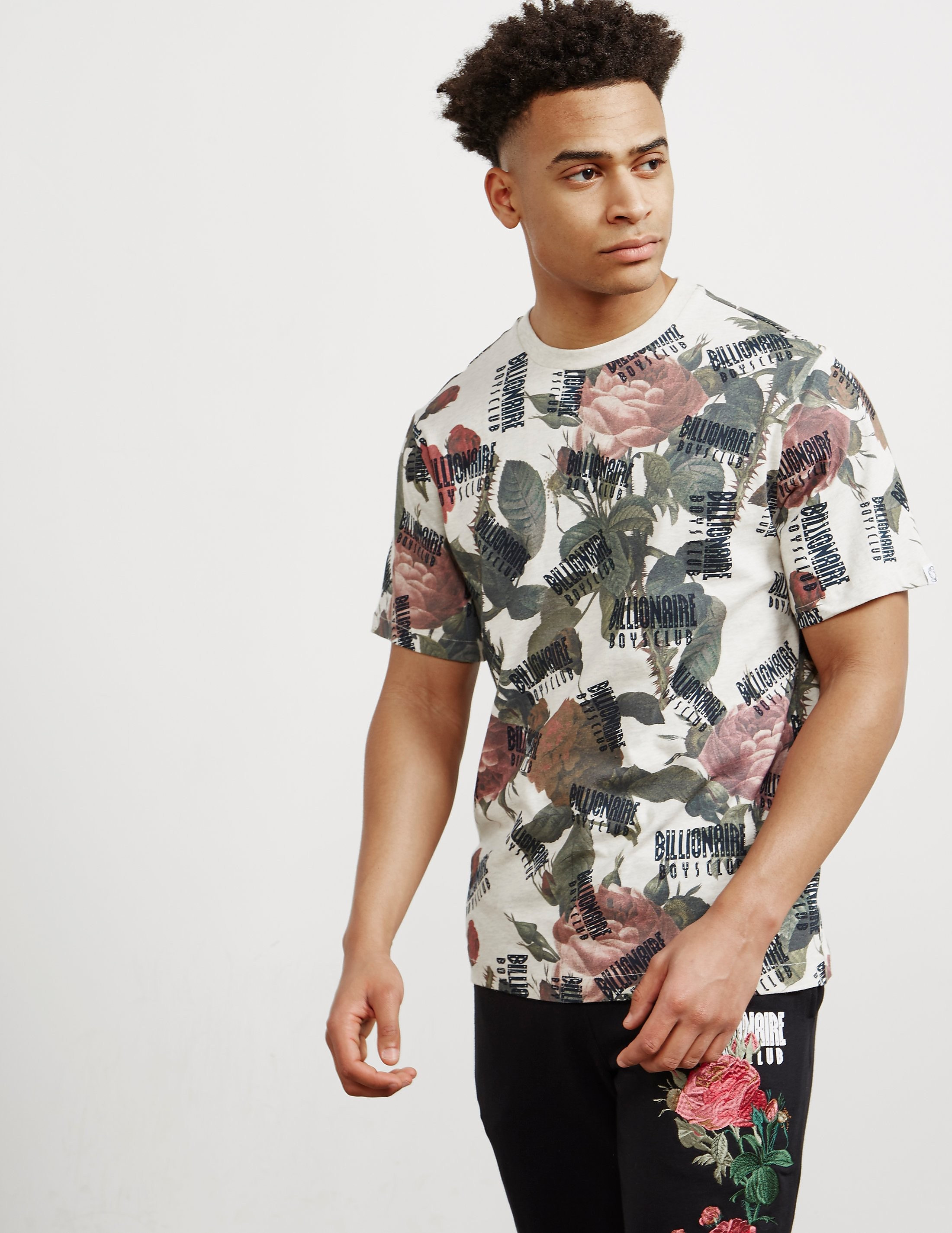 Billionaire Boys Club Floral Print Short Sleeve T-Shirt