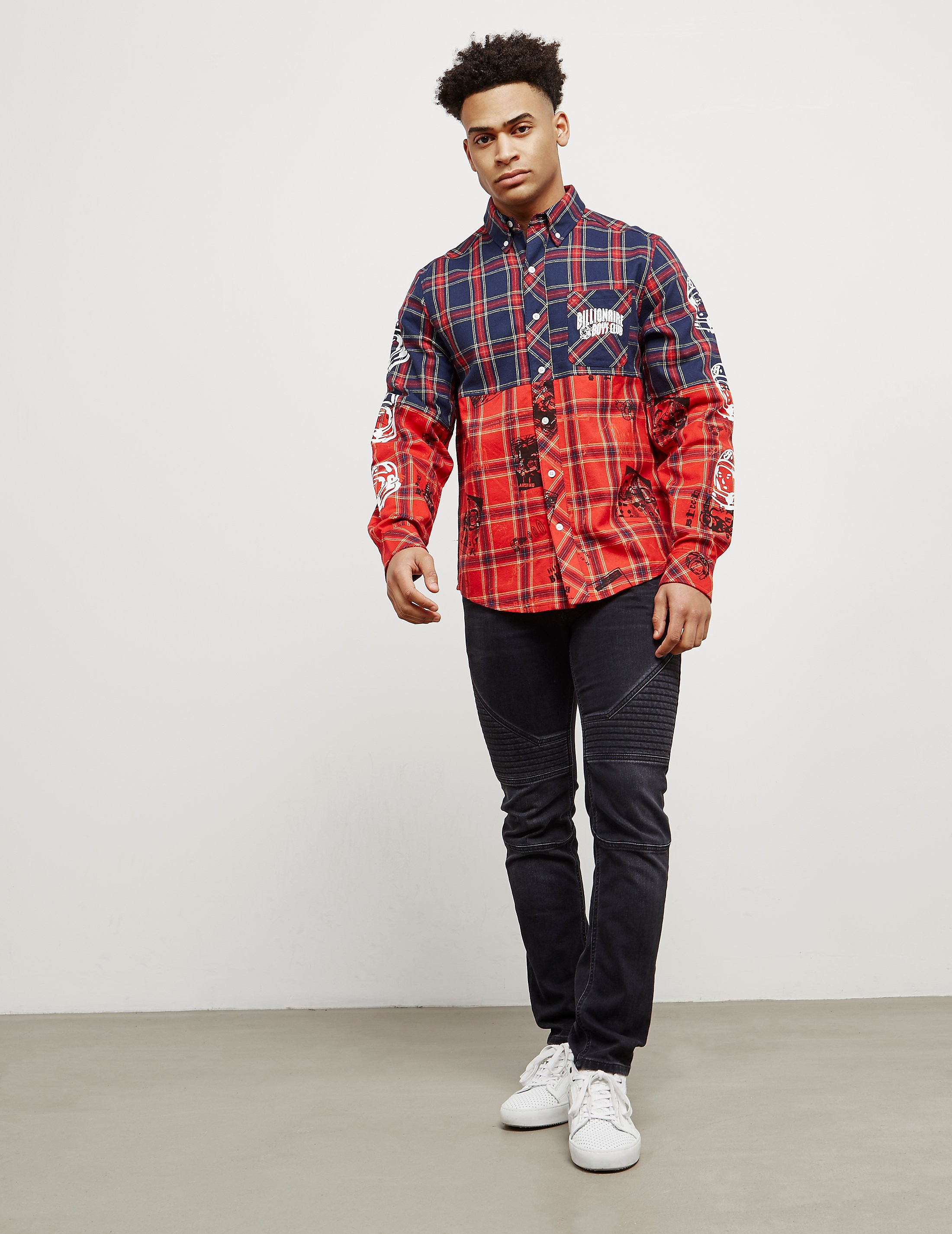Billionaire Boys Club Check Long Sleeve Shirt