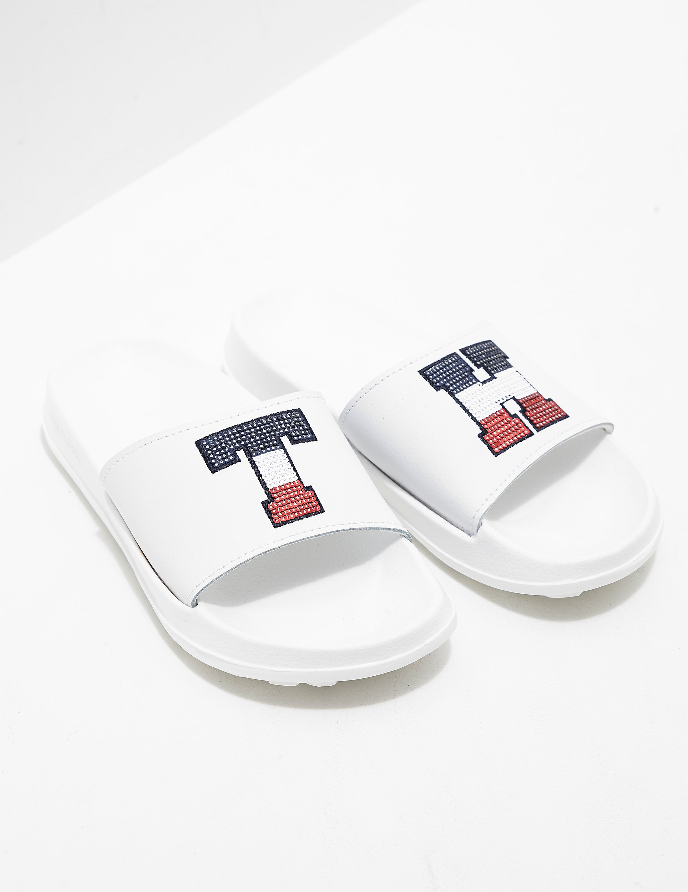 Tommy Hilfiger Sequin Slides Women's