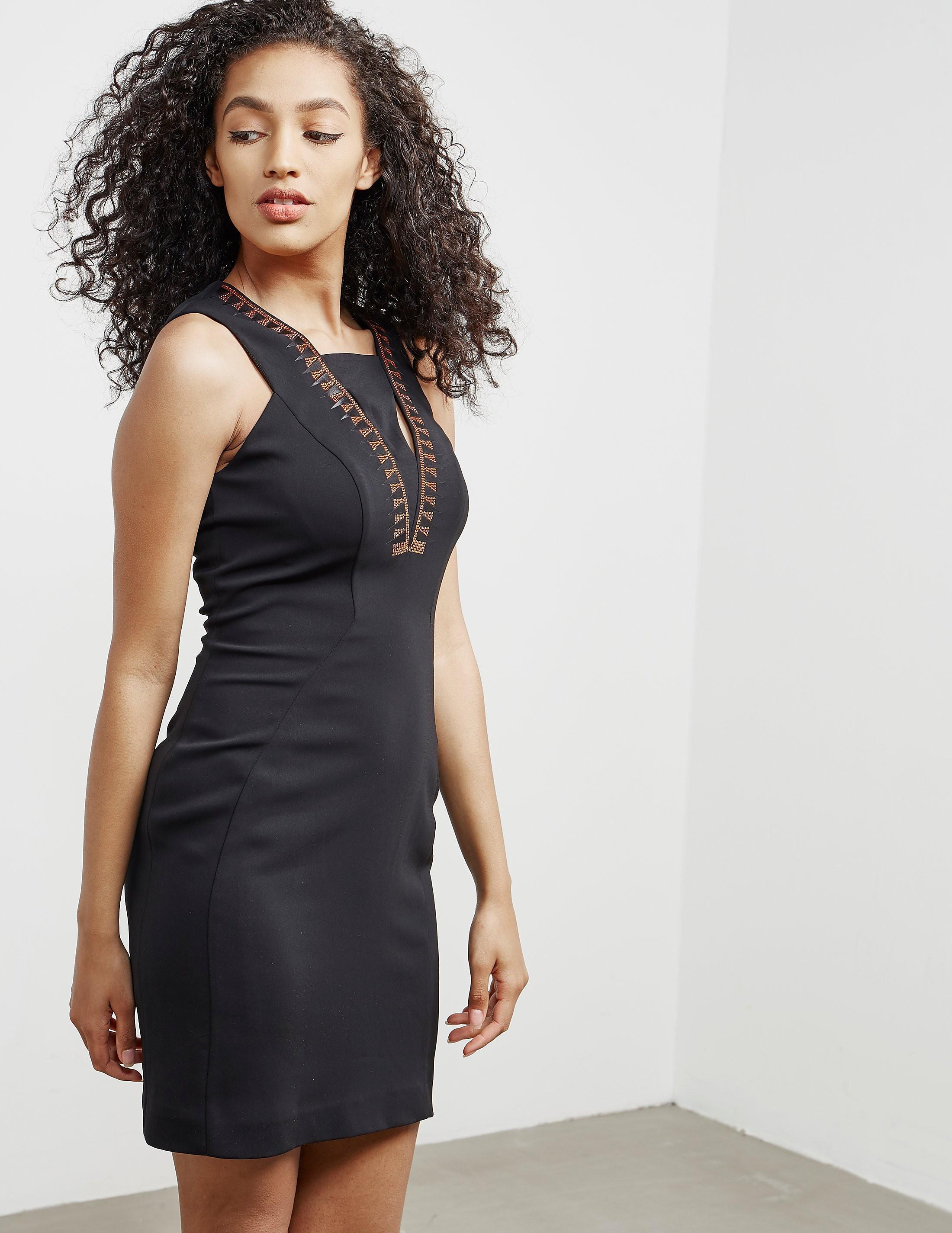 Versace V-Neck Insert Dress