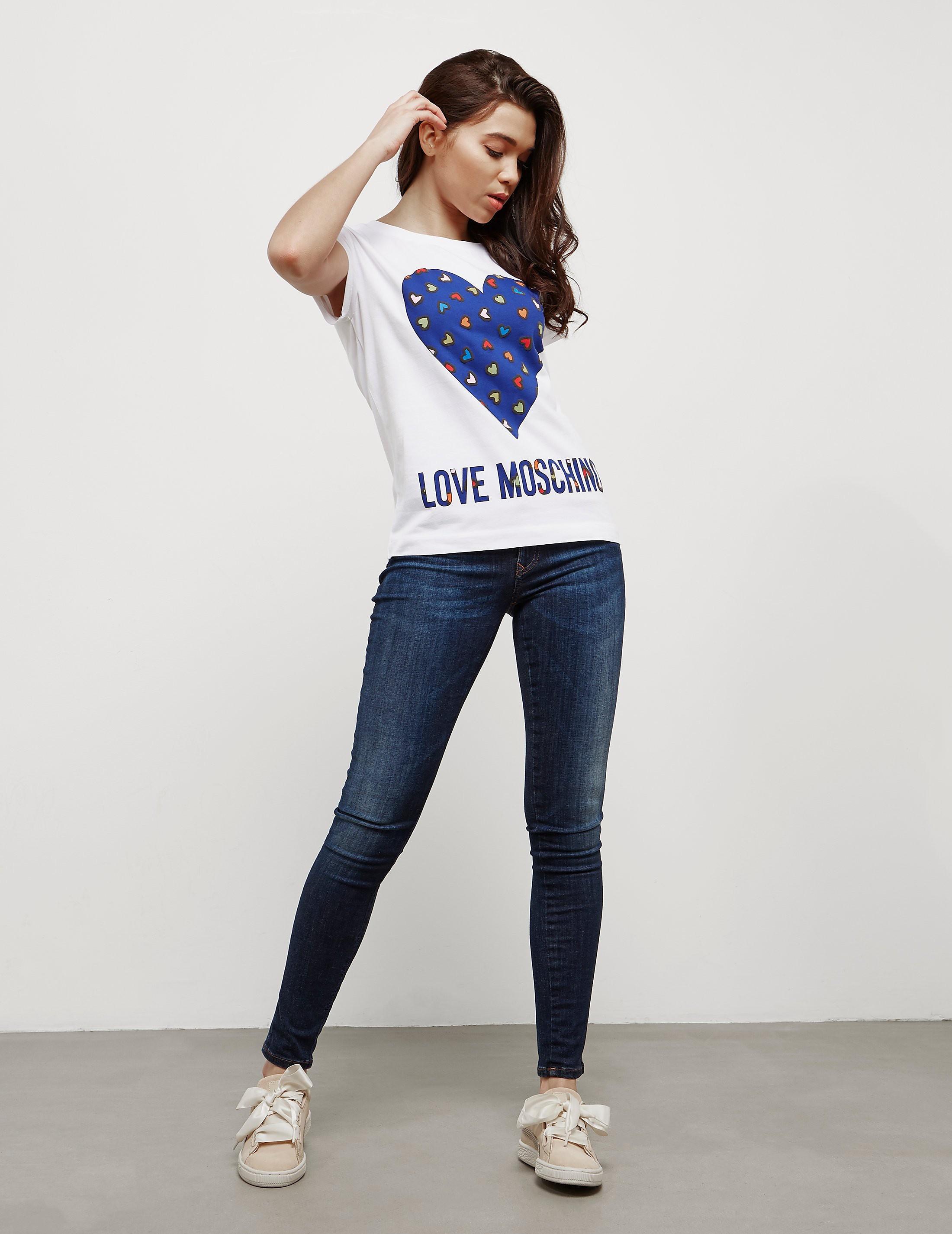 Love Moschino Fun Heart Short Sleeve T-Shirt - Online Exclusive