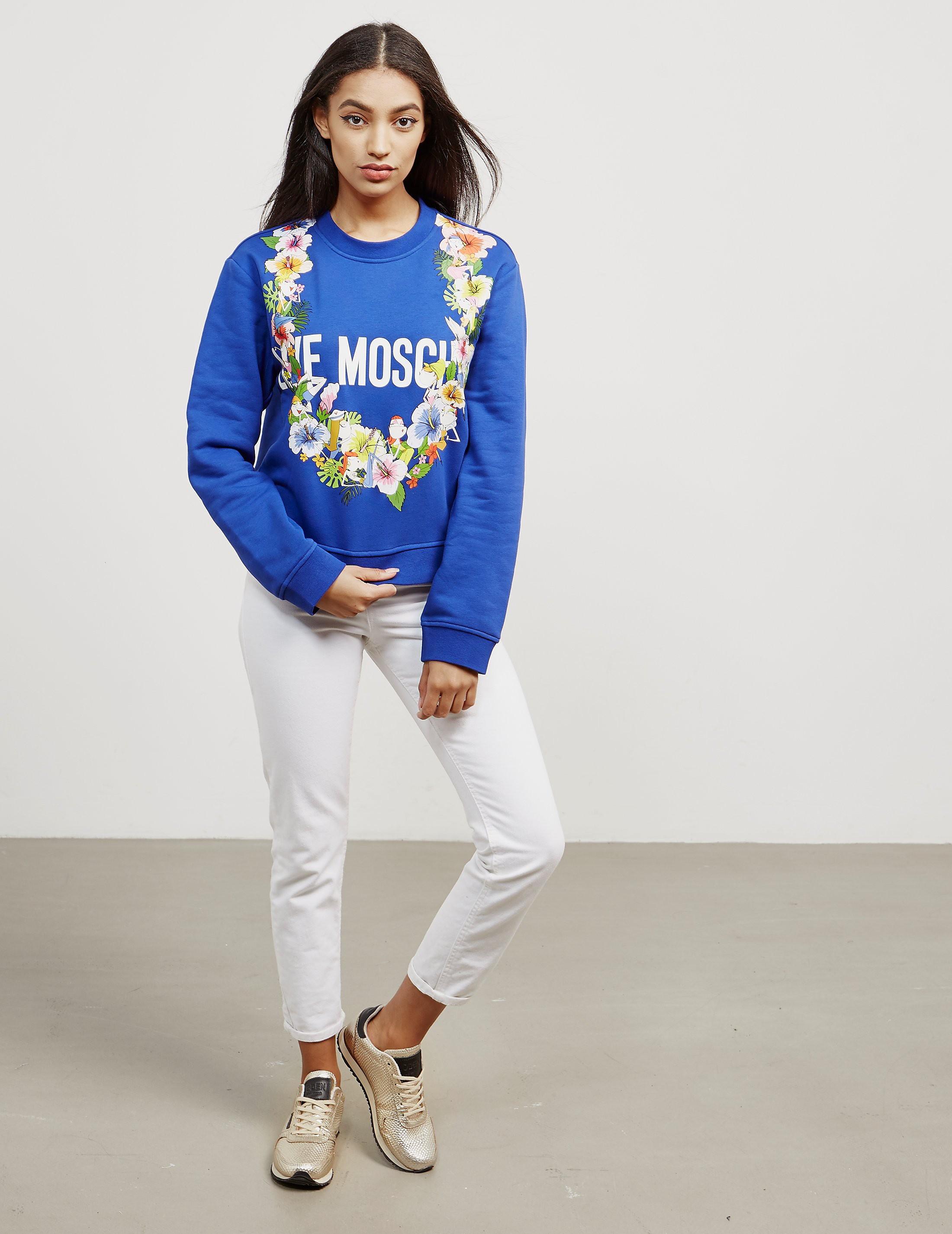 Love Moschino Floral Sweatshirt