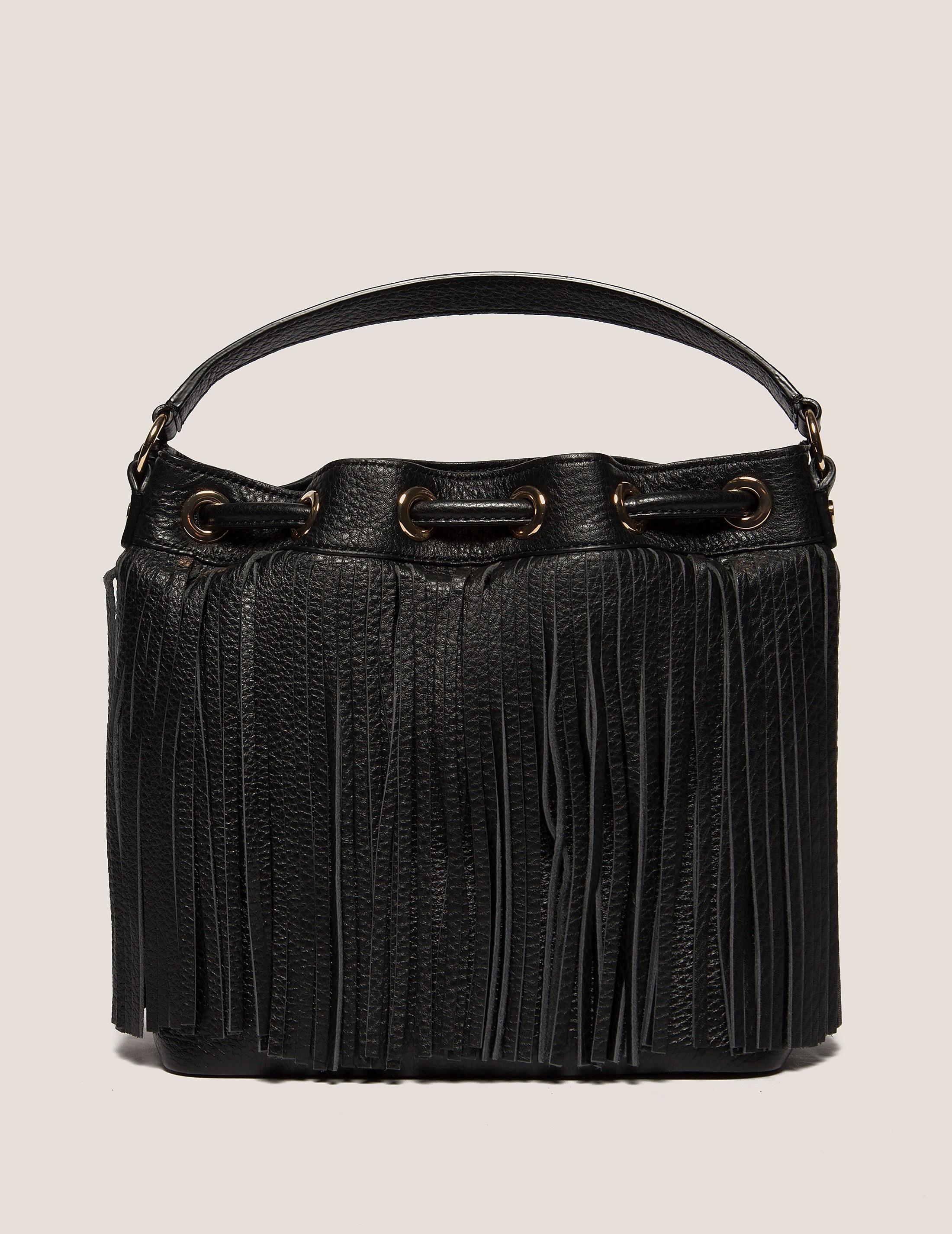 Juicy Couture Topanga Fringe Leather Drawstring Bag